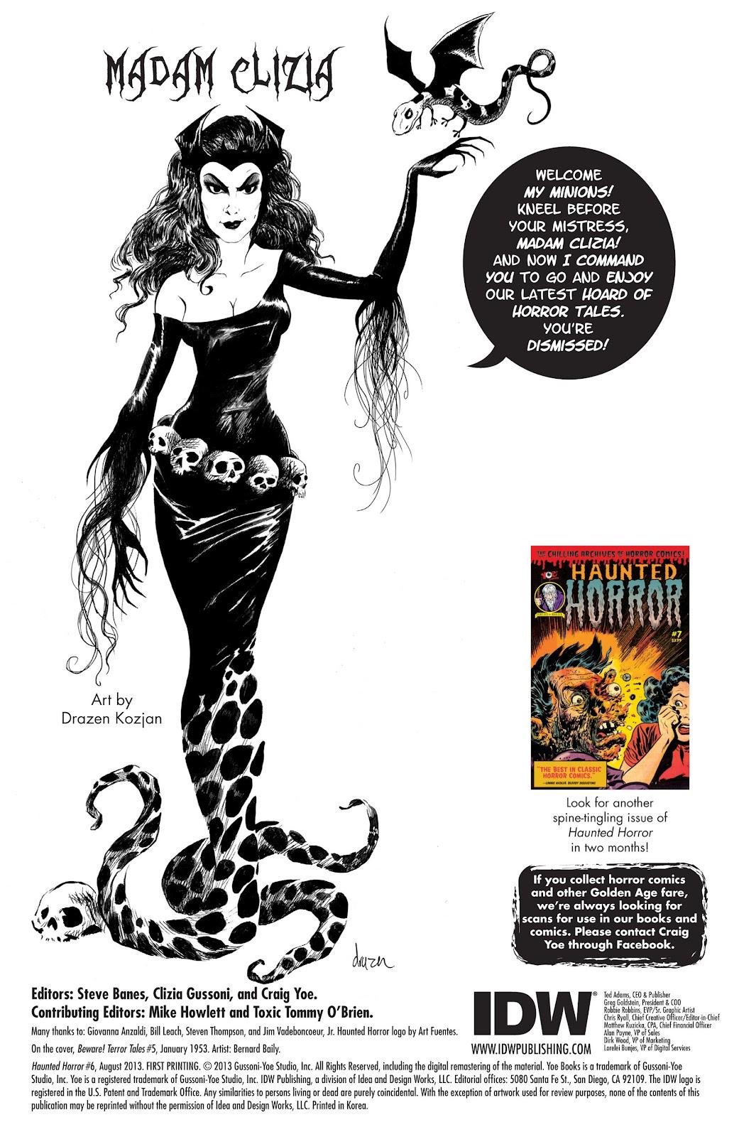 Comic Haunted Horror issue 6