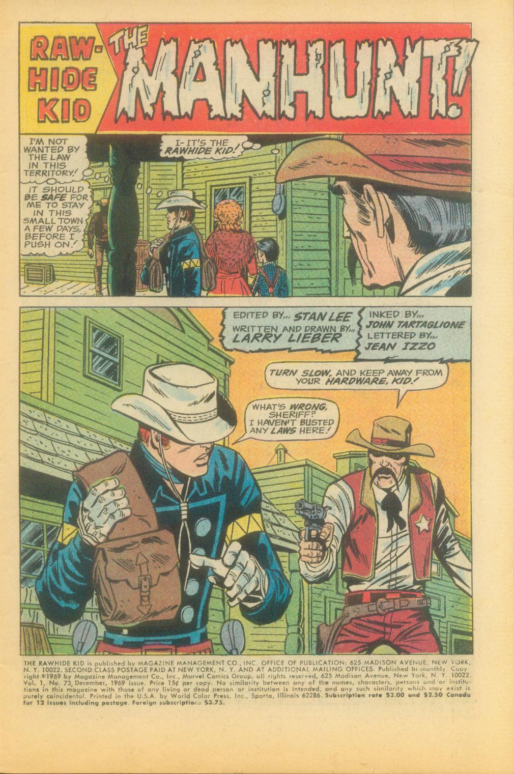 The Rawhide Kid (1955) issue 73 - Page 4