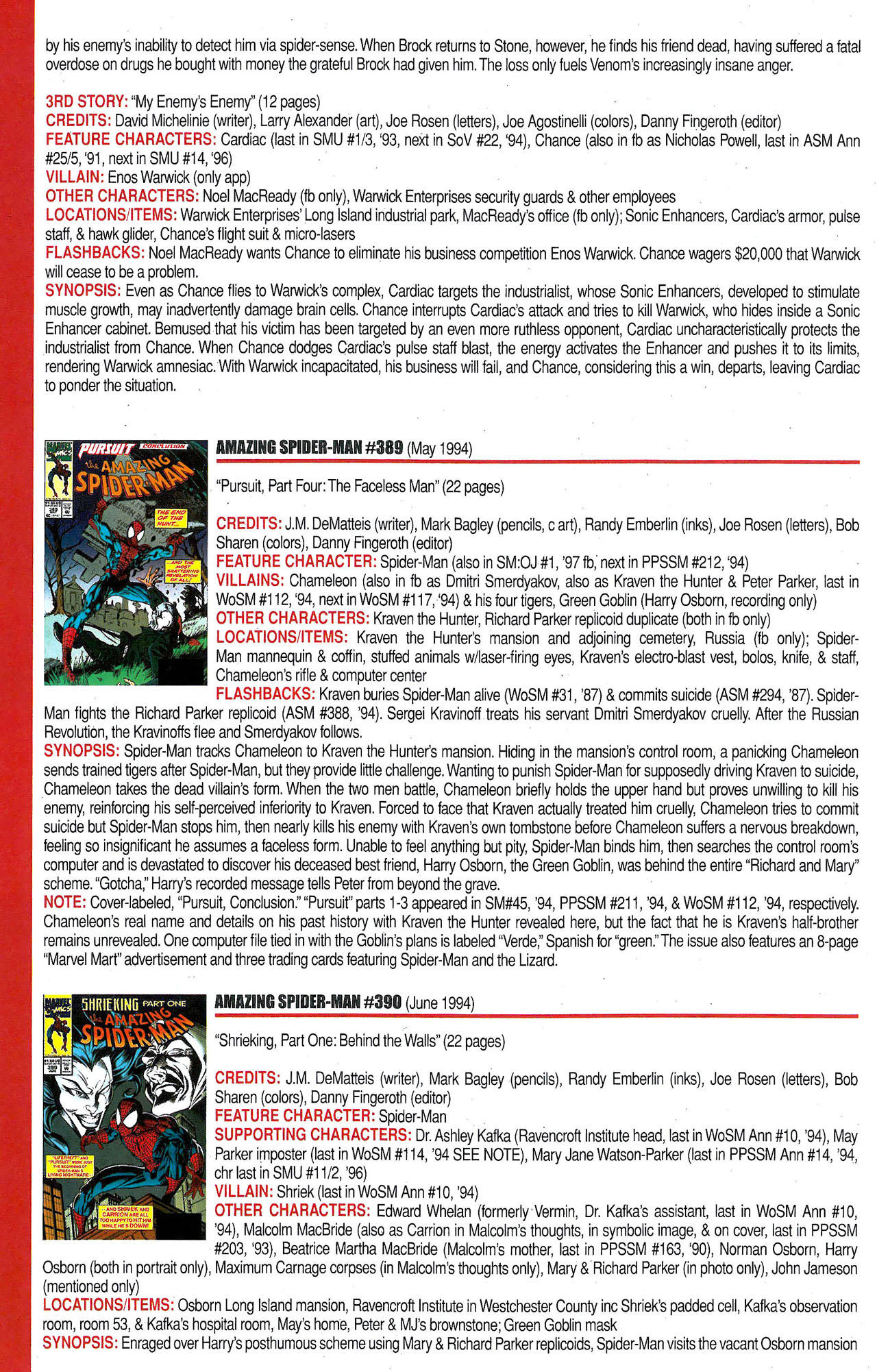 Read online Official Index to the Marvel Universe comic -  Issue #9 - 16