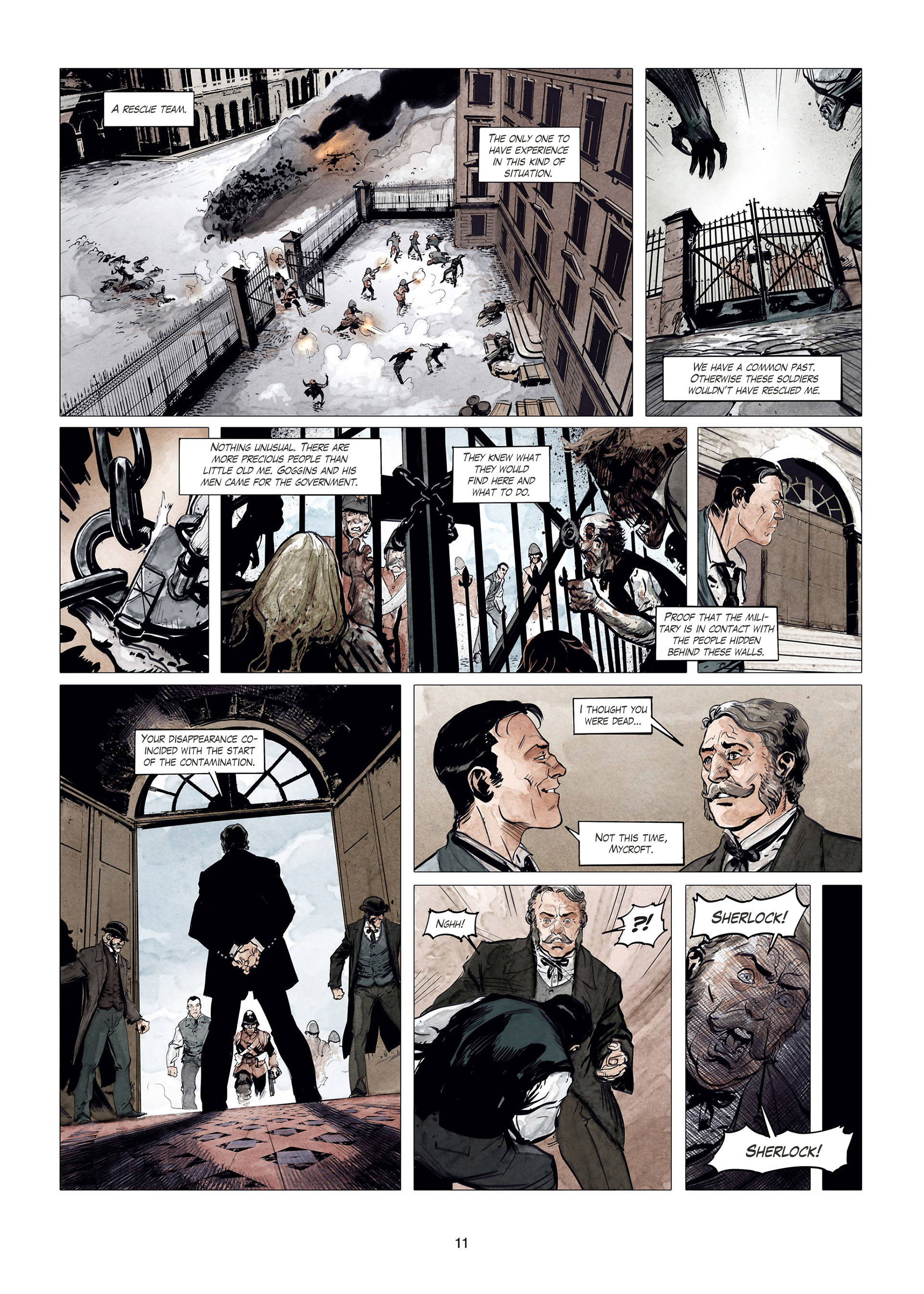 Read online Sherlock Holmes Society Tome 4 : Contamination comic -  Issue # Full - 11
