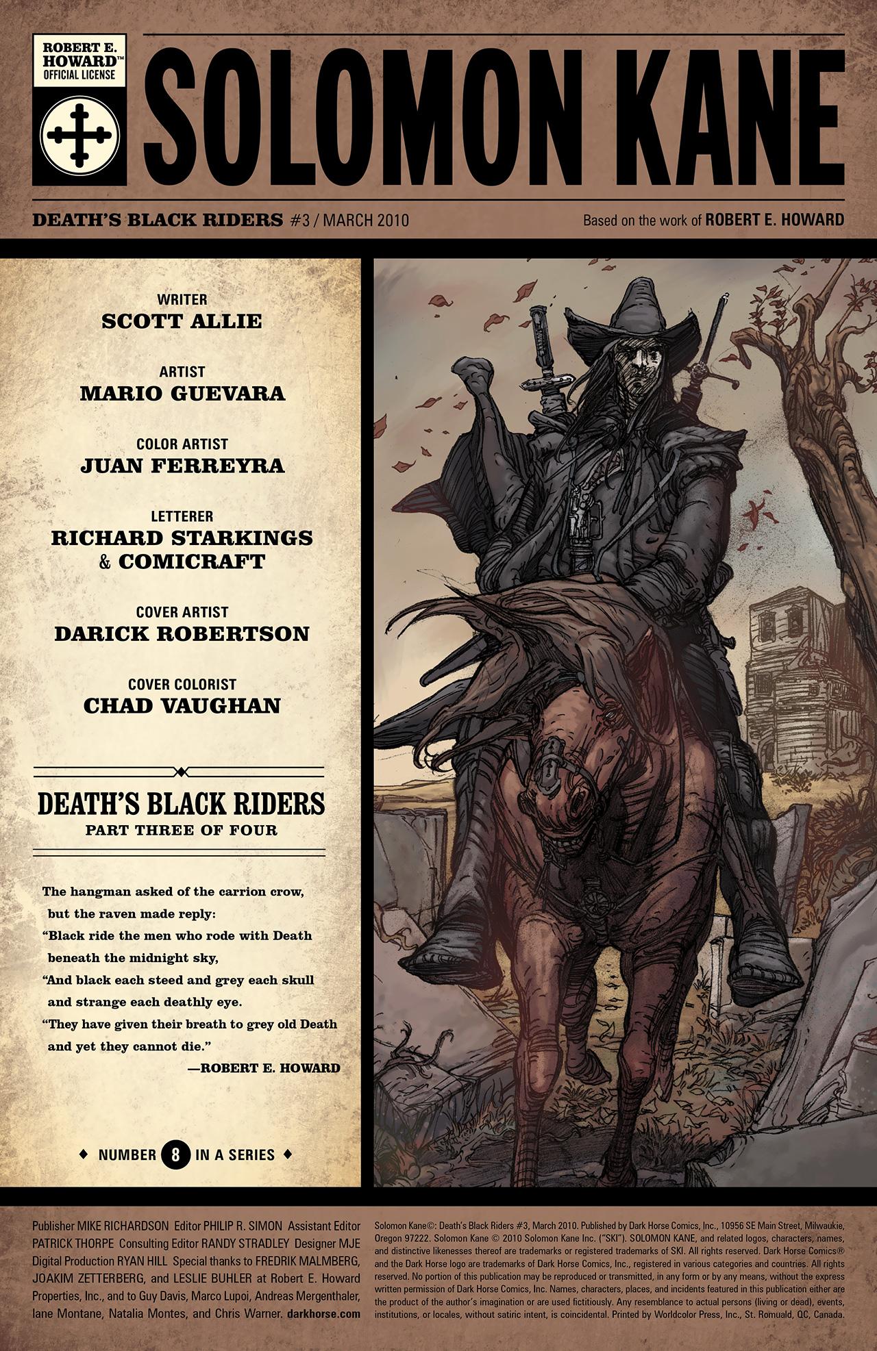 Read online Solomon Kane: Death's Black Riders comic -  Issue #3 - 2