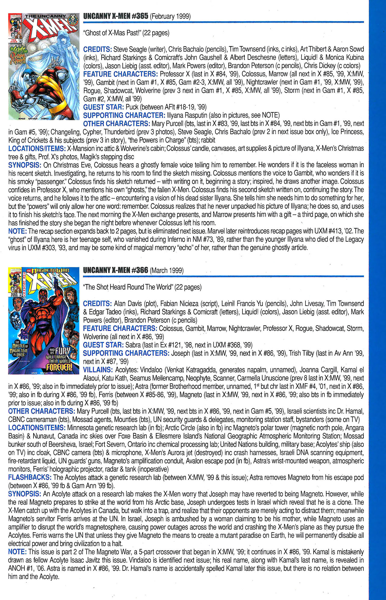 Read online Official Index to the Marvel Universe comic -  Issue #9 - 61