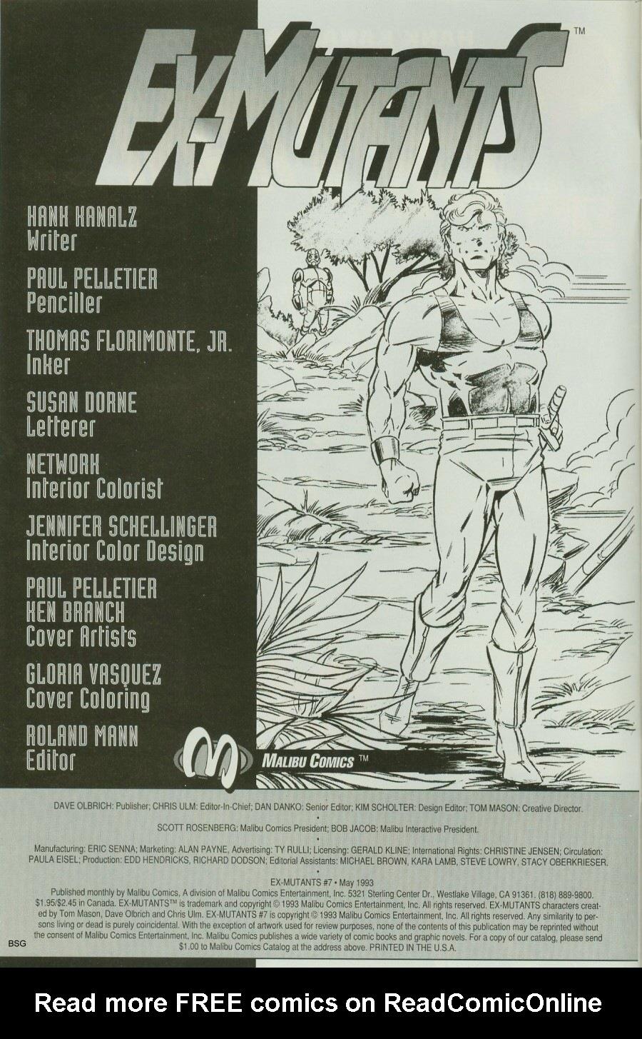 Read online Ex-Mutants comic -  Issue #7 - 2
