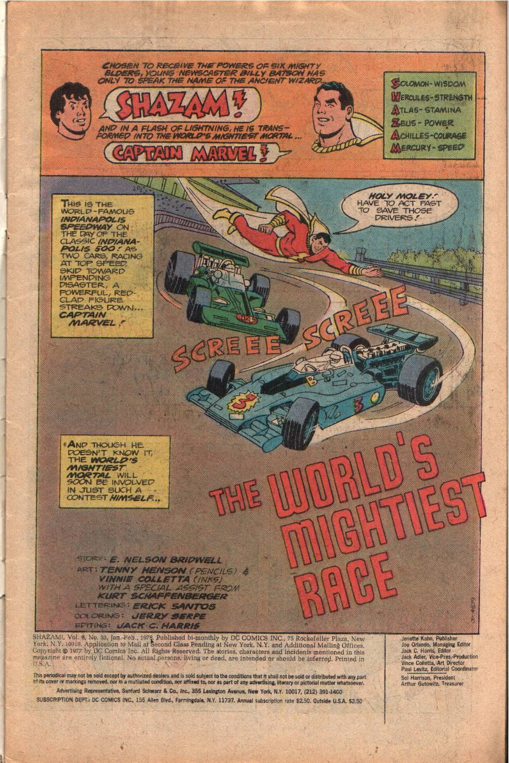 Read online Shazam! (1973) comic -  Issue #33 - 3