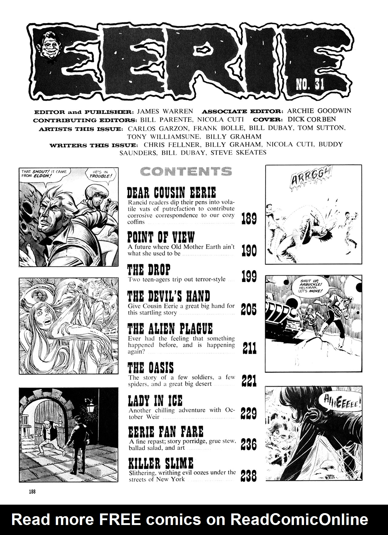 Read online Eerie Archives comic -  Issue # TPB 6 - 188