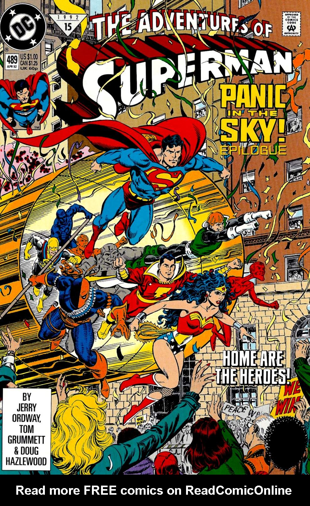 Read online Adventures of Superman (1987) comic -  Issue #489 - 1