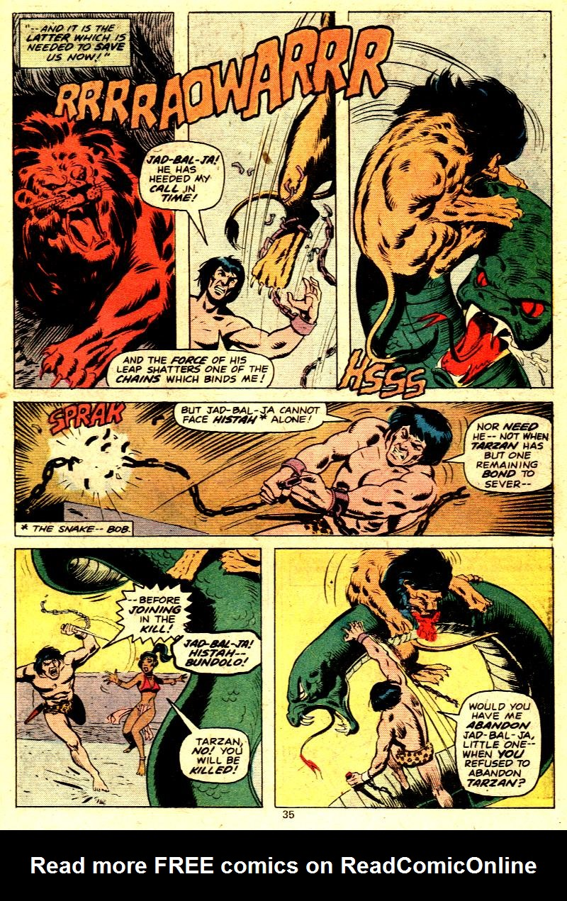 Read online Tarzan (1977) comic -  Issue # _Annual 2 - 27