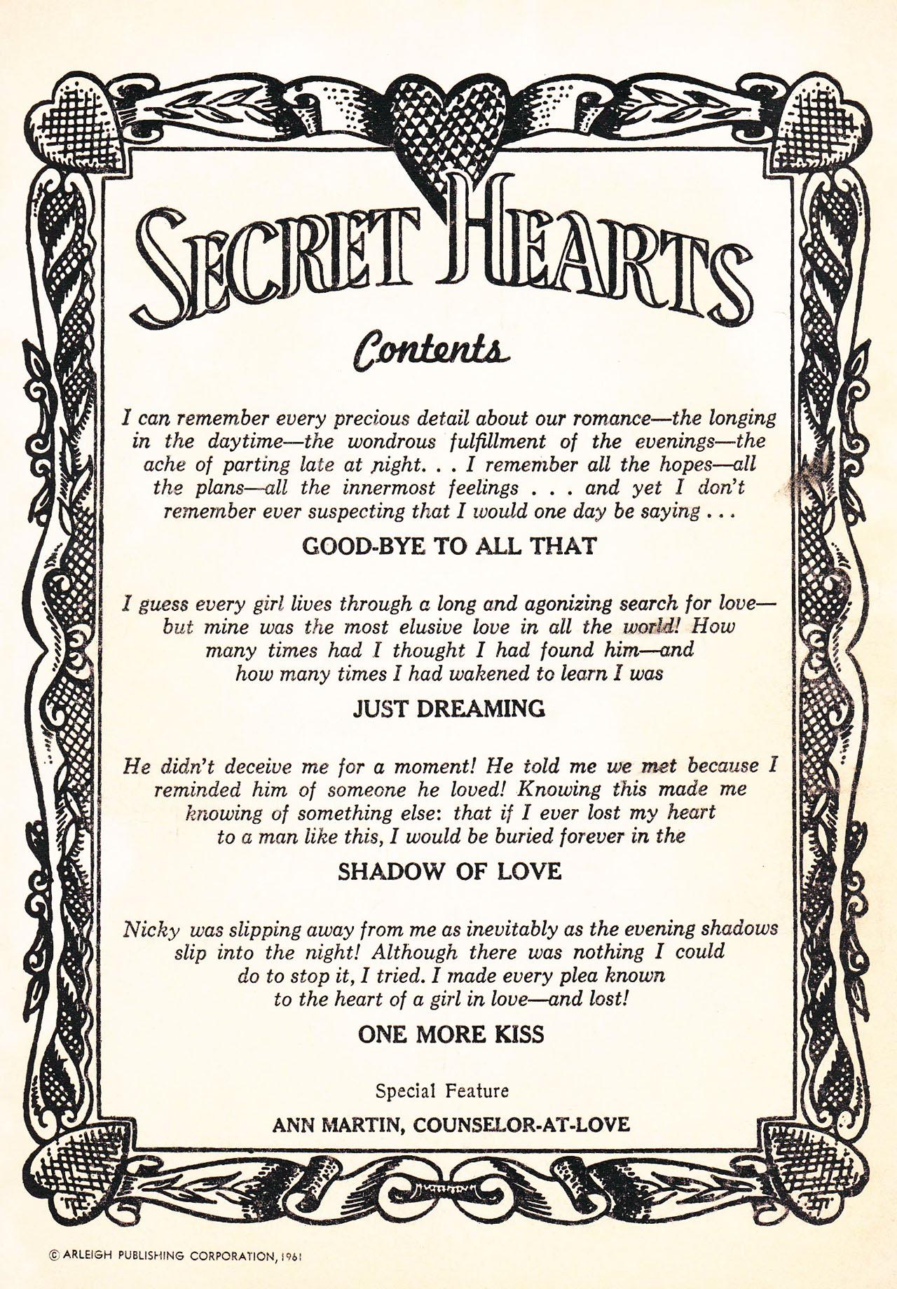 Read online Secret Hearts comic -  Issue #75 - 2