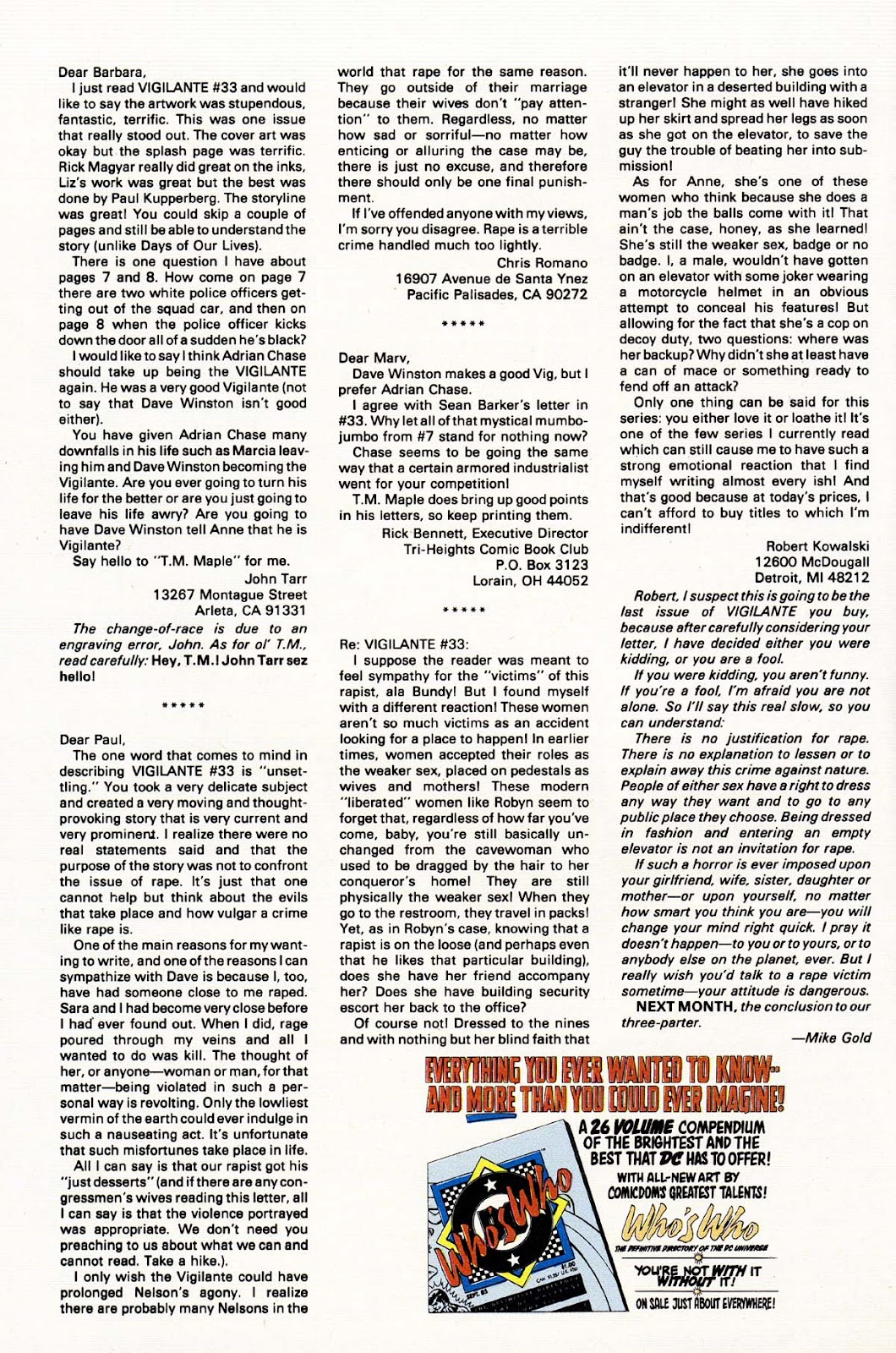 Vigilante (1983) issue 37 - Page 32
