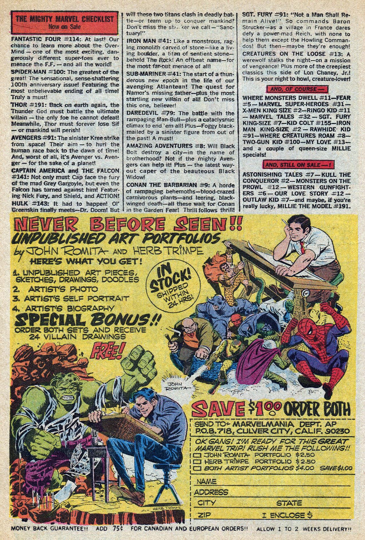 Read online Amazing Adventures (1970) comic -  Issue #8 - 10