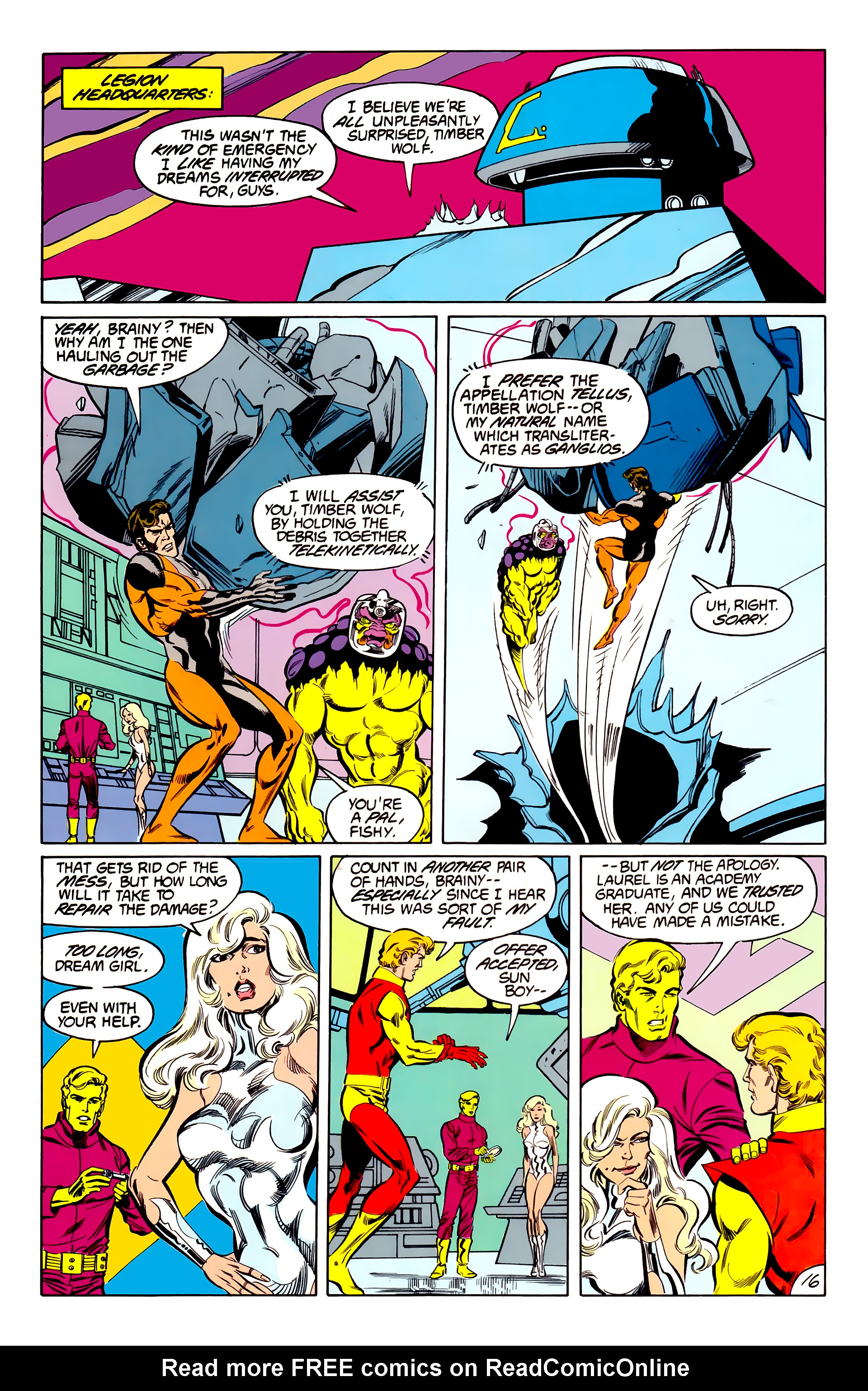 Legion of Super-Heroes (1984) 42 Page 16