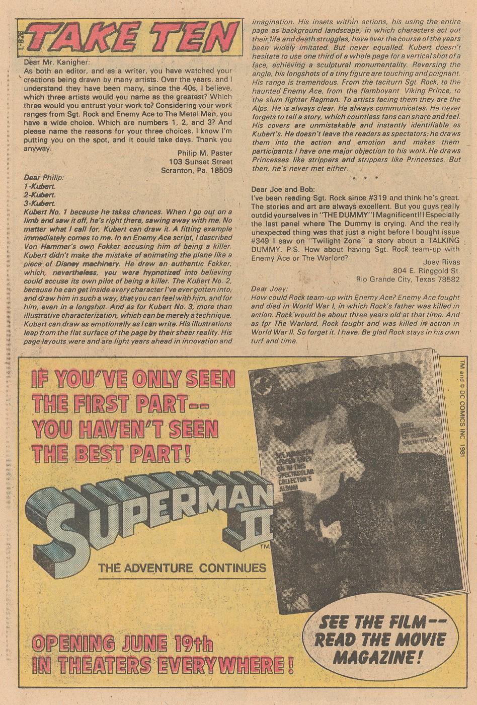 Read online Sgt. Rock comic -  Issue #356 - 23