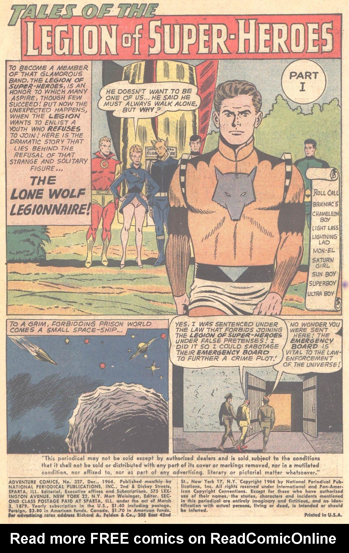Read online Adventure Comics (1938) comic -  Issue #327 - 2