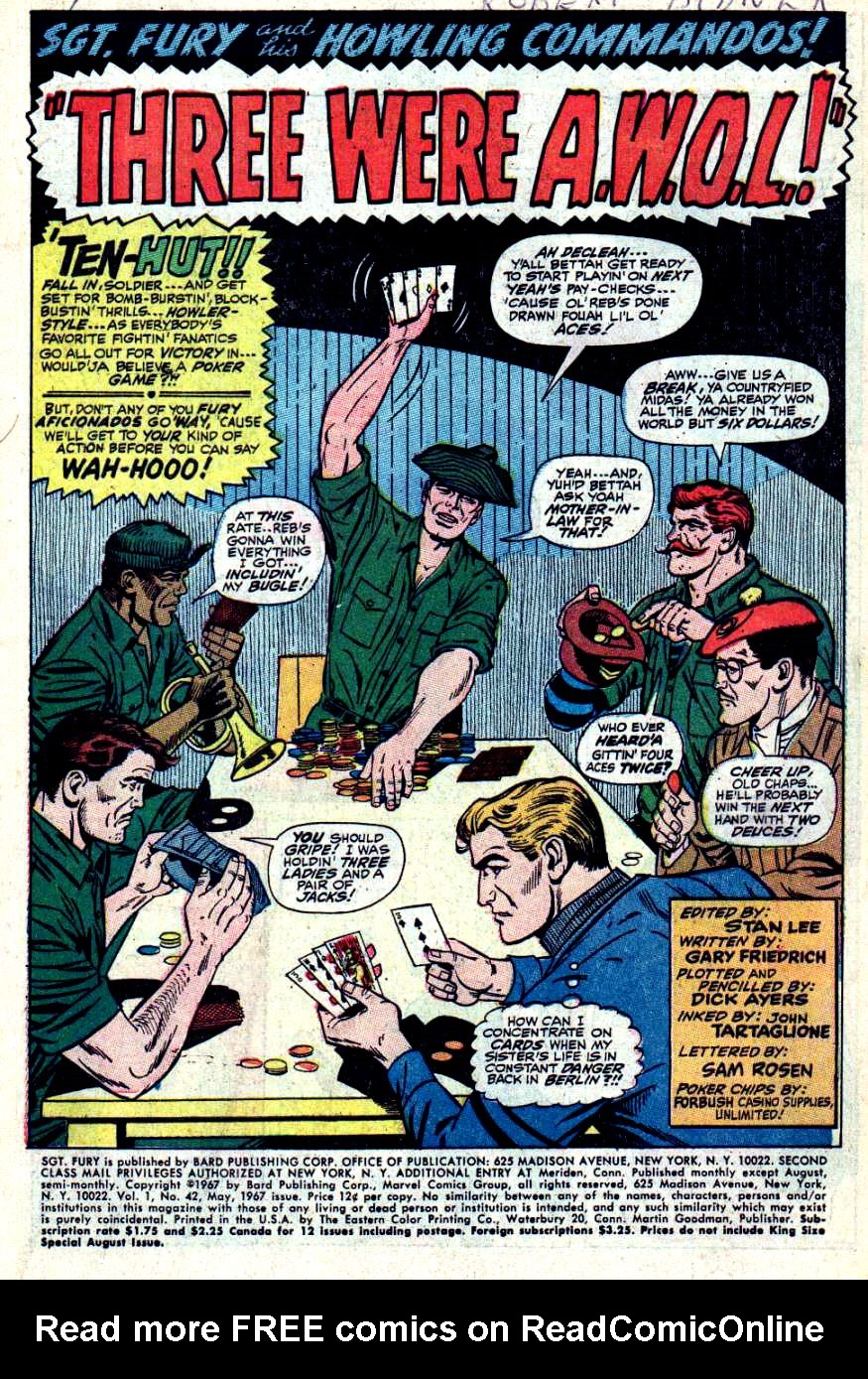 Read online Sgt. Fury comic -  Issue #42 - 3