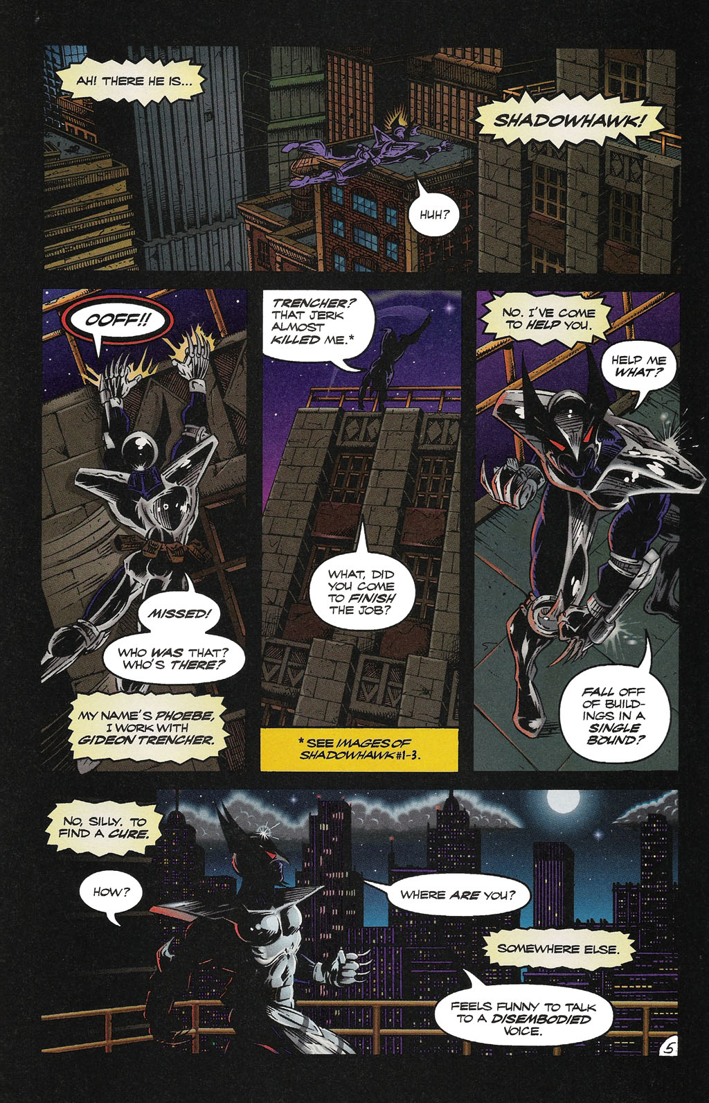 Read online ShadowHawk Gallery comic -  Issue # Full - 32