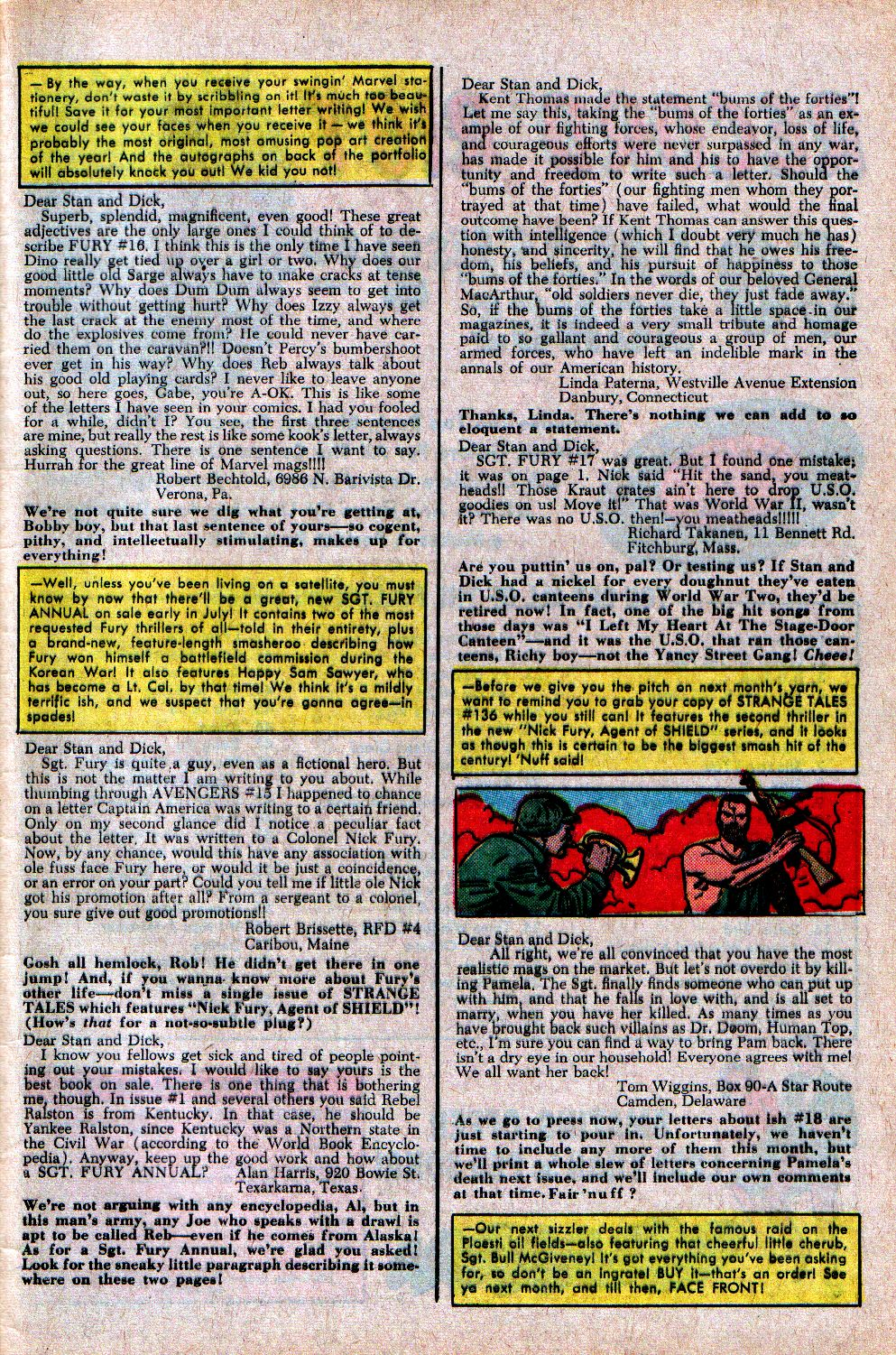 Read online Sgt. Fury comic -  Issue #21 - 33