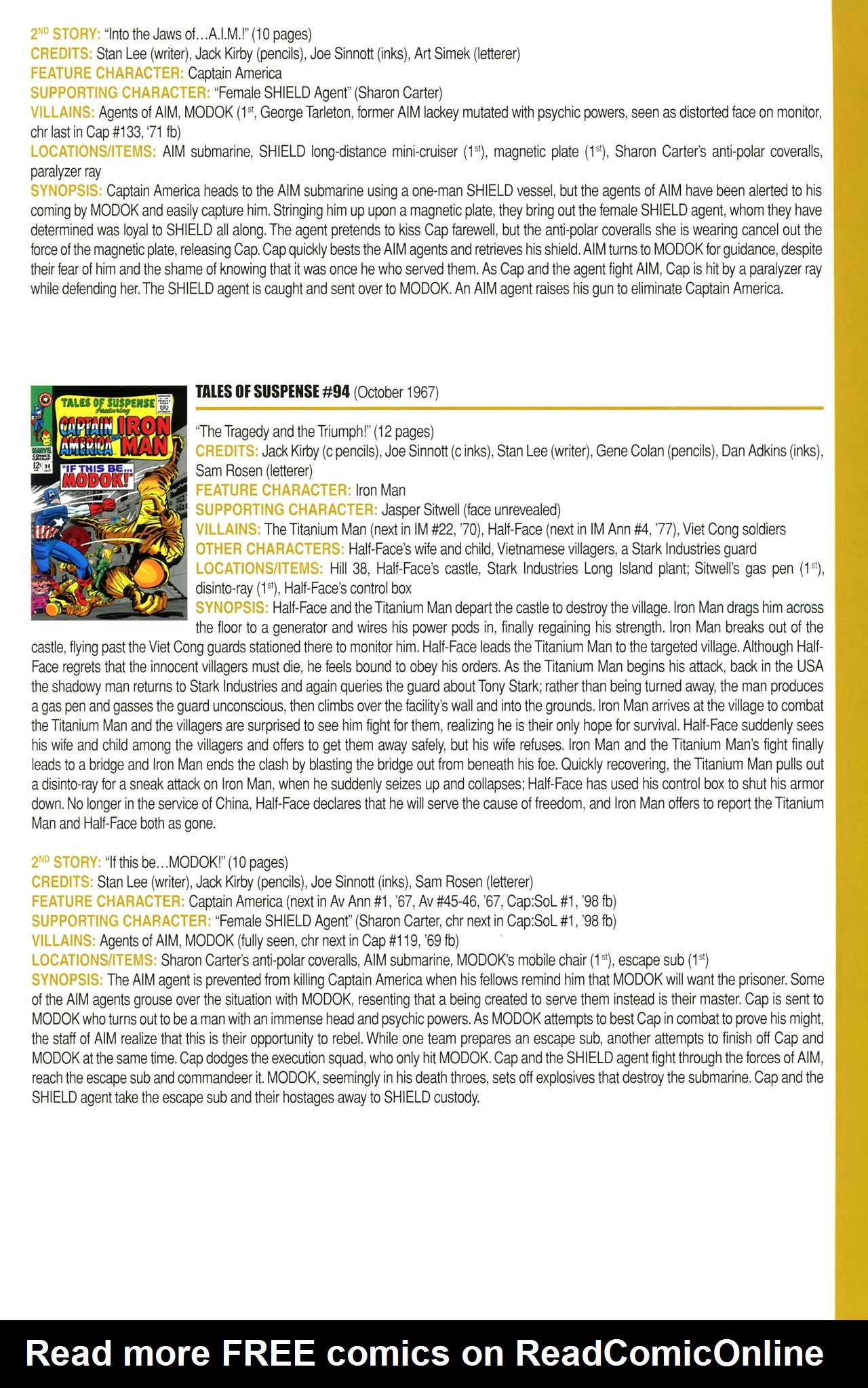 Read online Official Index to the Marvel Universe comic -  Issue #2 - 35