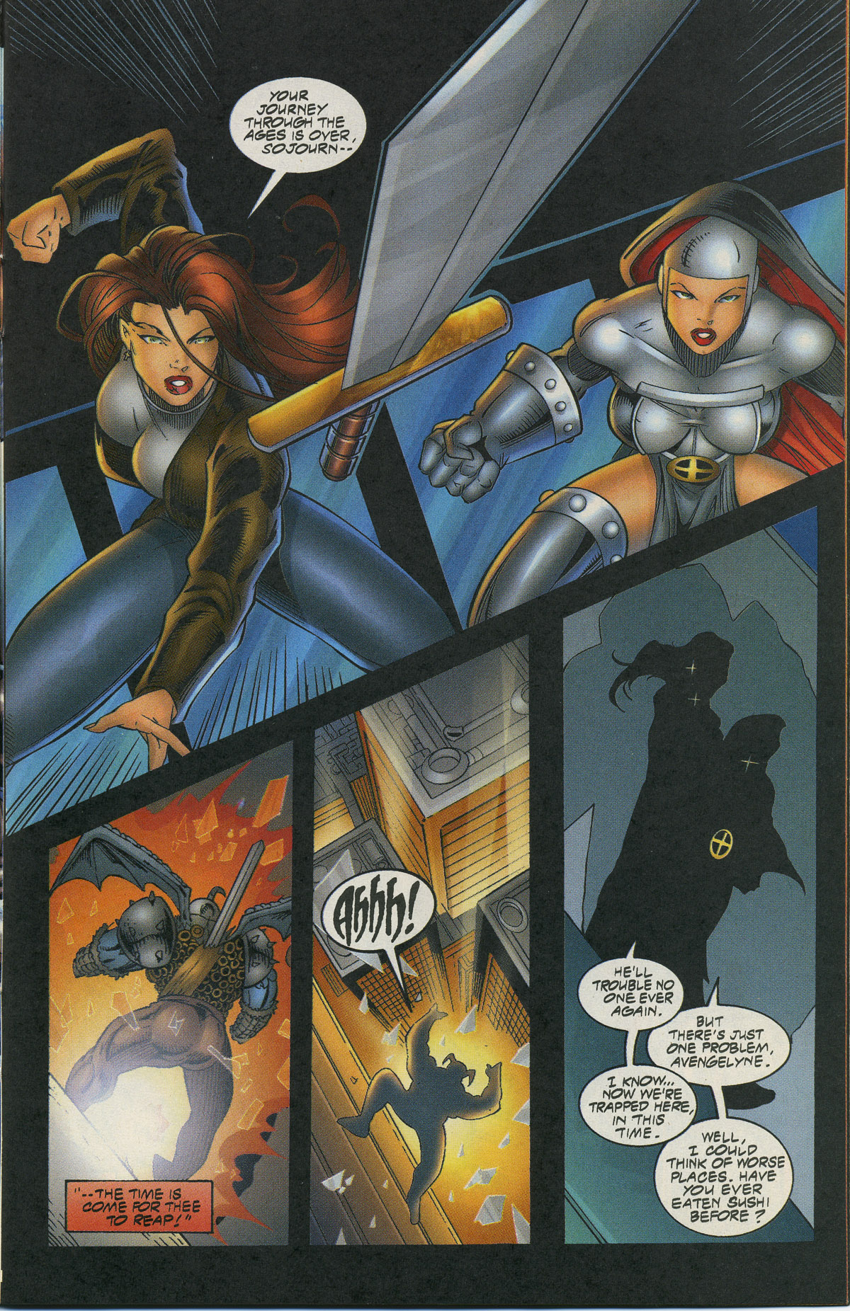 Read online Avengelyne/Warrior Nun Areala comic -  Issue # Full - 22