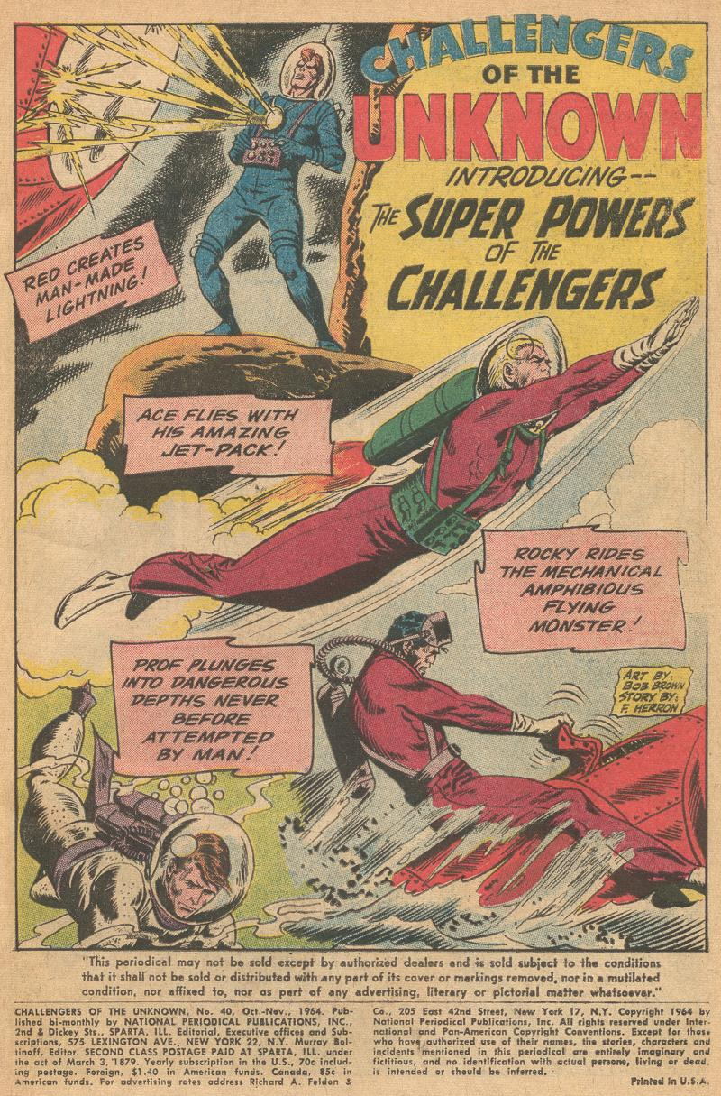 Challengers of the Unknown (1958) issue 40 - Page 3