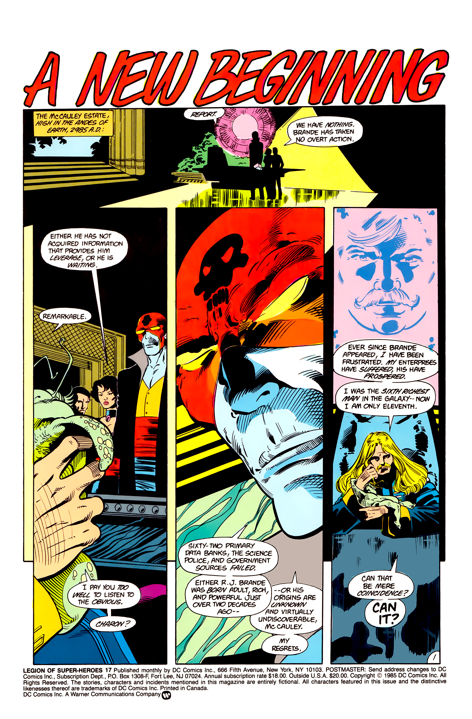Legion of Super-Heroes (1984) 17 Page 2