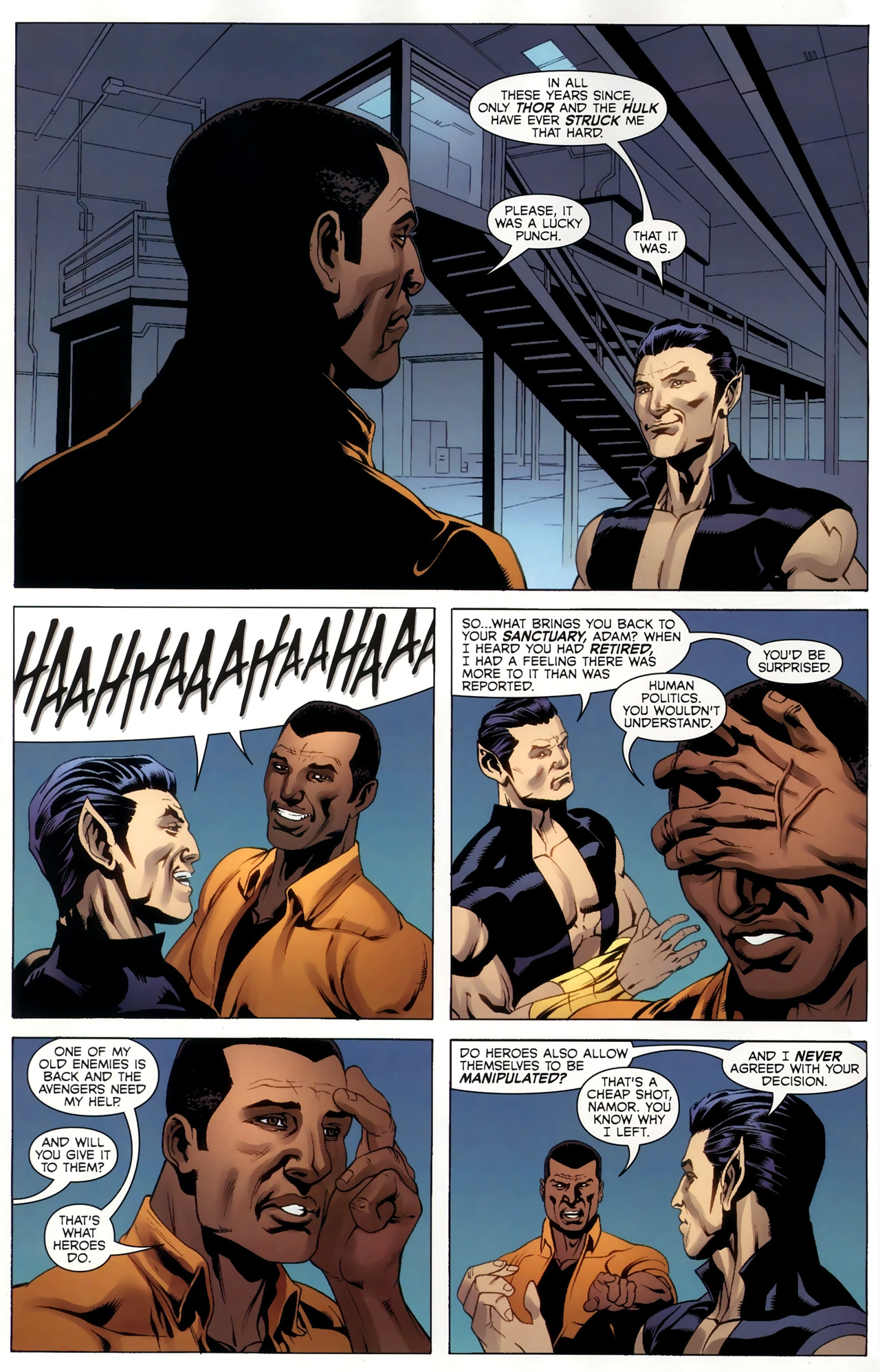 Read online Adam: Legend of the Blue Marvel comic -  Issue #4 - 14