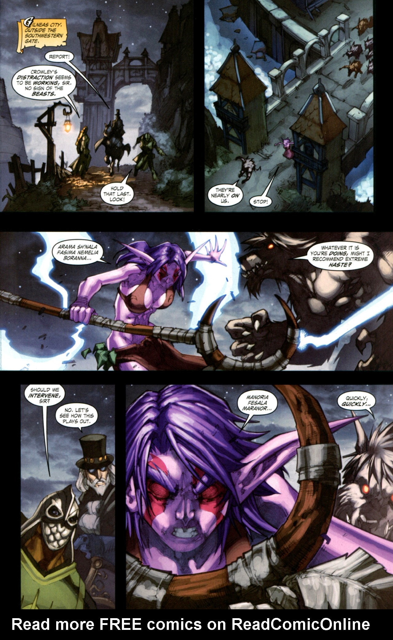 Read online World of Warcraft: Curse of the Worgen comic -  Issue #4 - 22