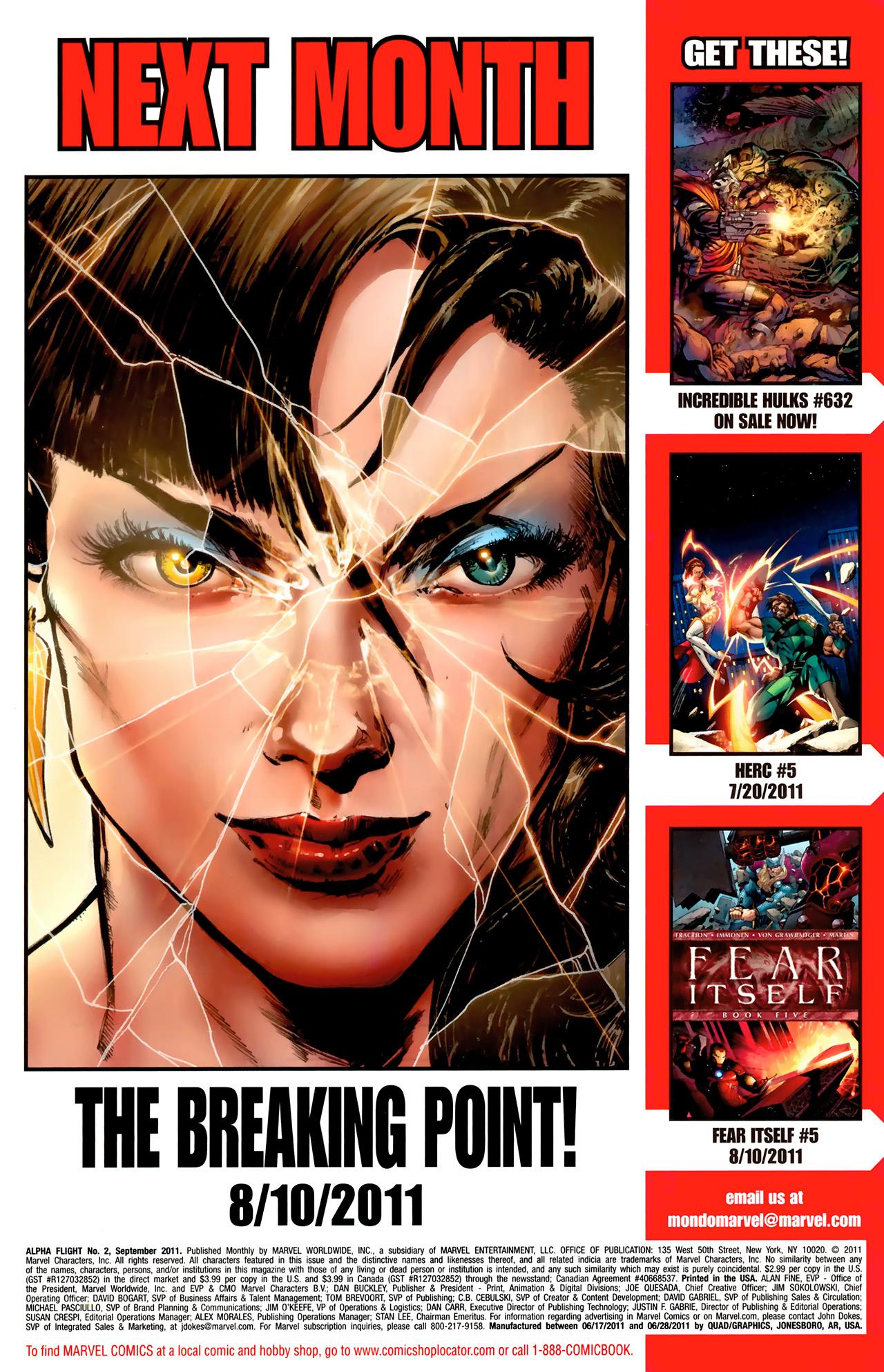 Read online Alpha Flight (2011) comic -  Issue #2 - 23