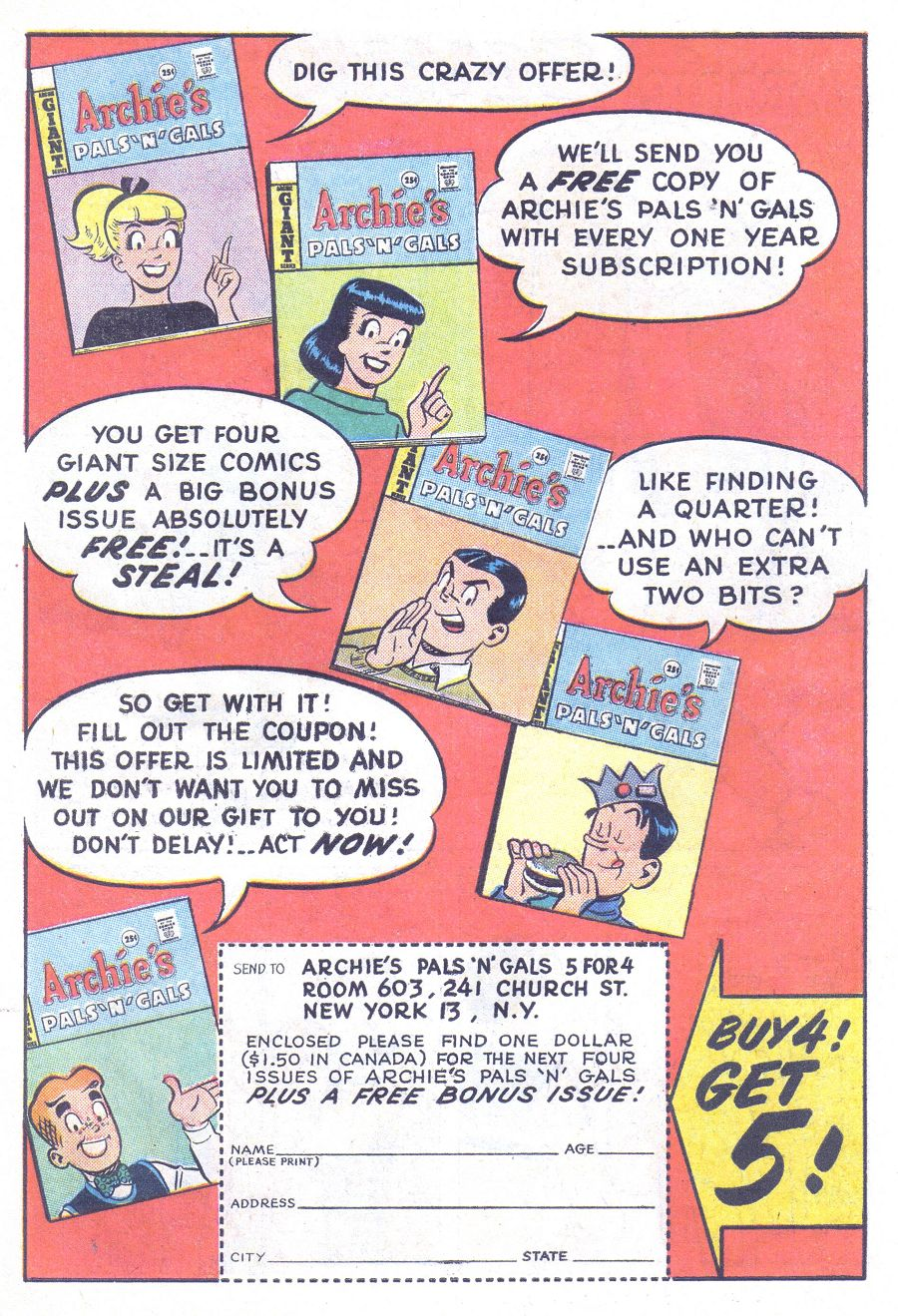 Read online Archie (1960) comic -  Issue #144 - 19