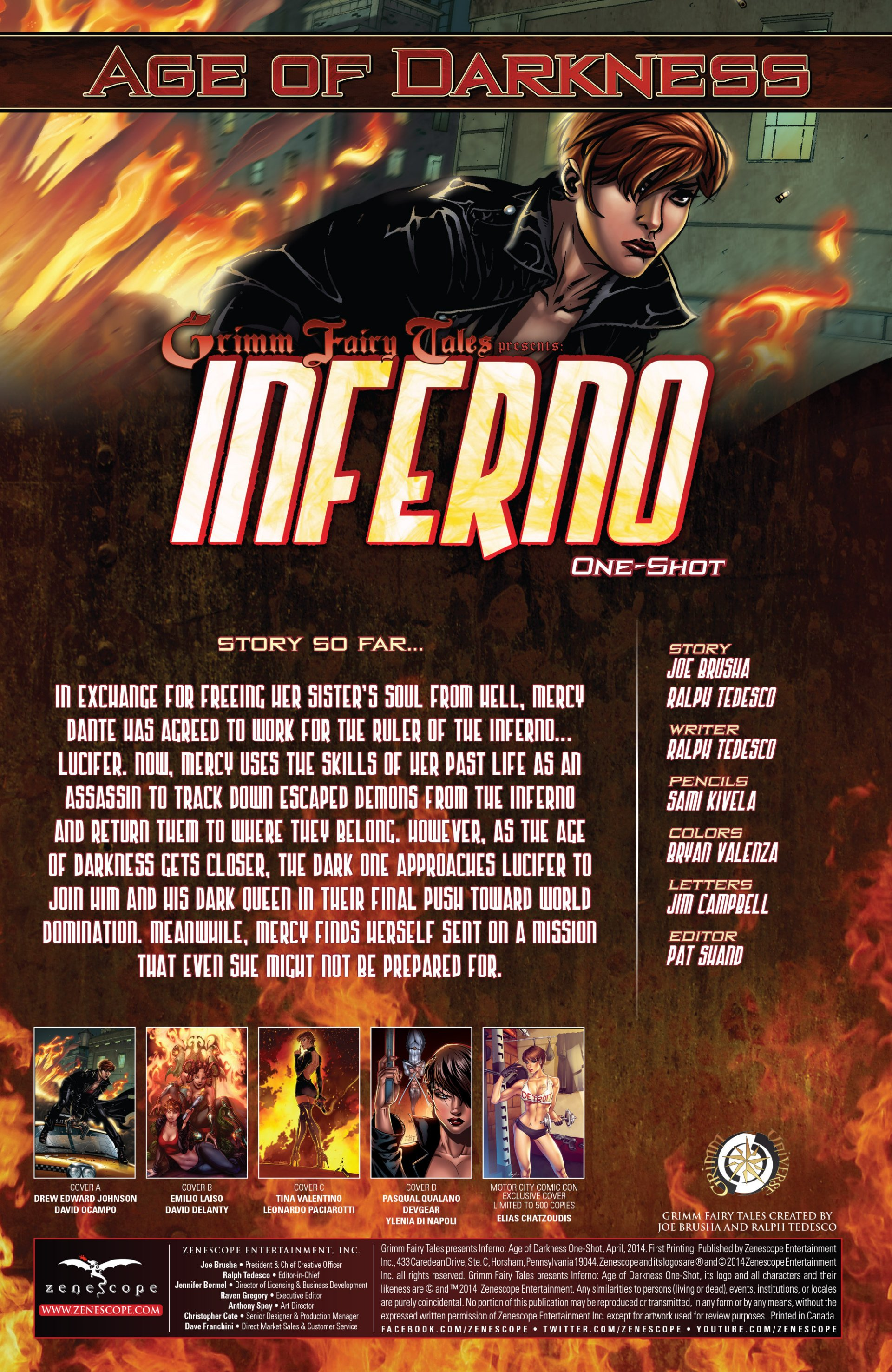 Read online Grimm Fairy Tales presents Inferno: Age of Darkness comic -  Issue # Full - 2
