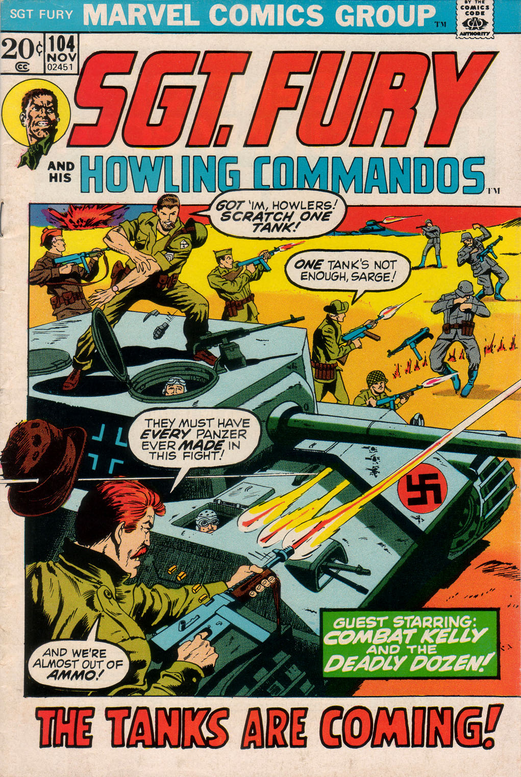 Read online Sgt. Fury comic -  Issue #104 - 1