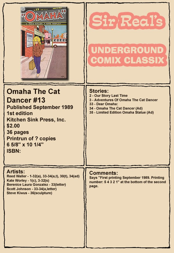 Omaha the Cat Dancer (1986) 13 Page 1