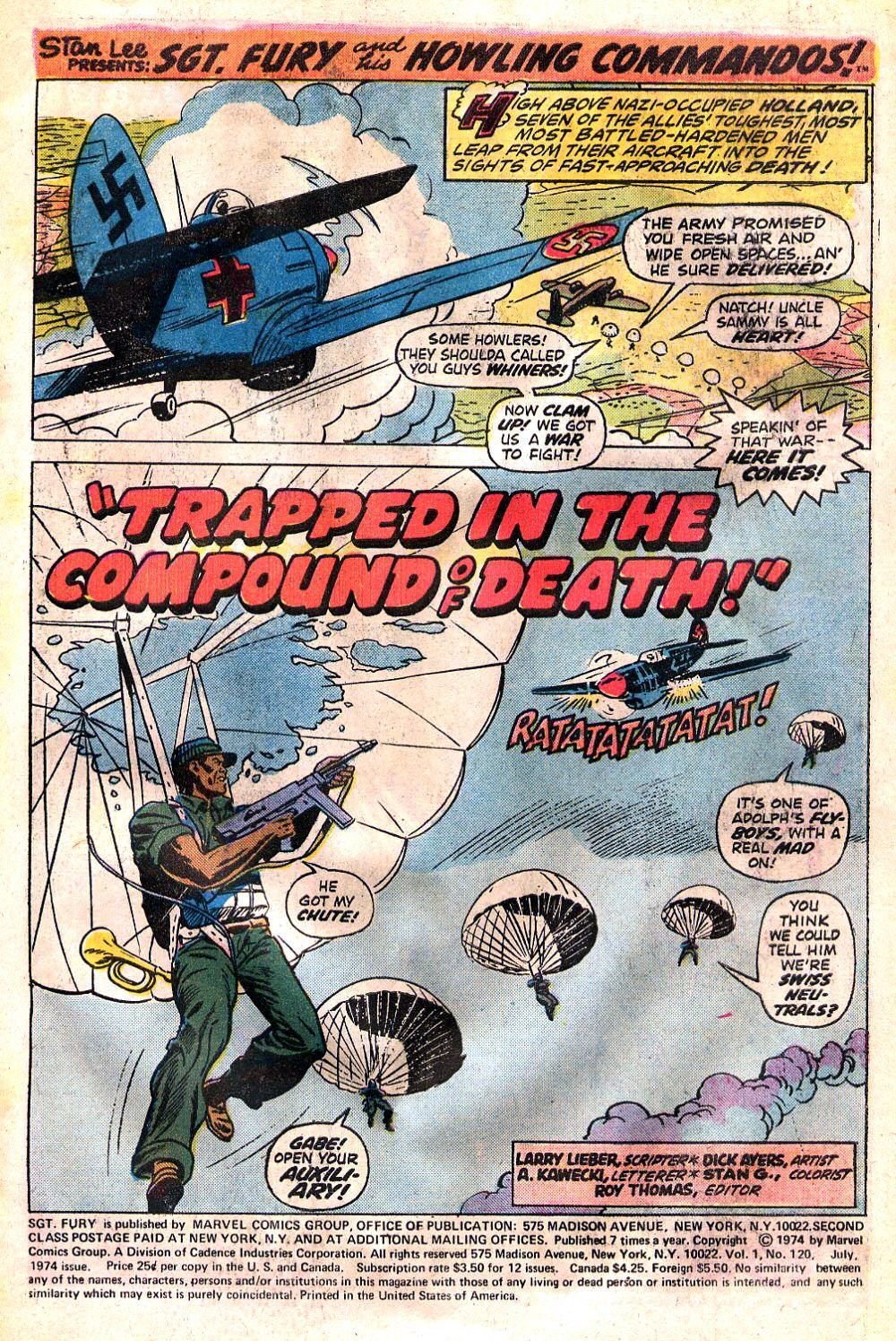 Read online Sgt. Fury comic -  Issue #120 - 3