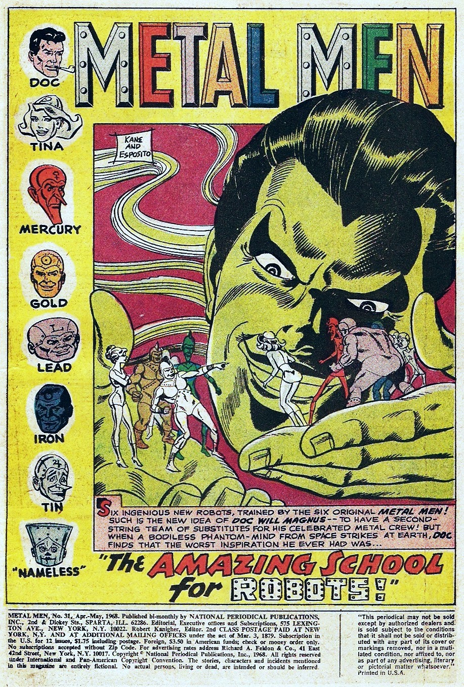 Metal Men (1963) issue 31 - Page 3