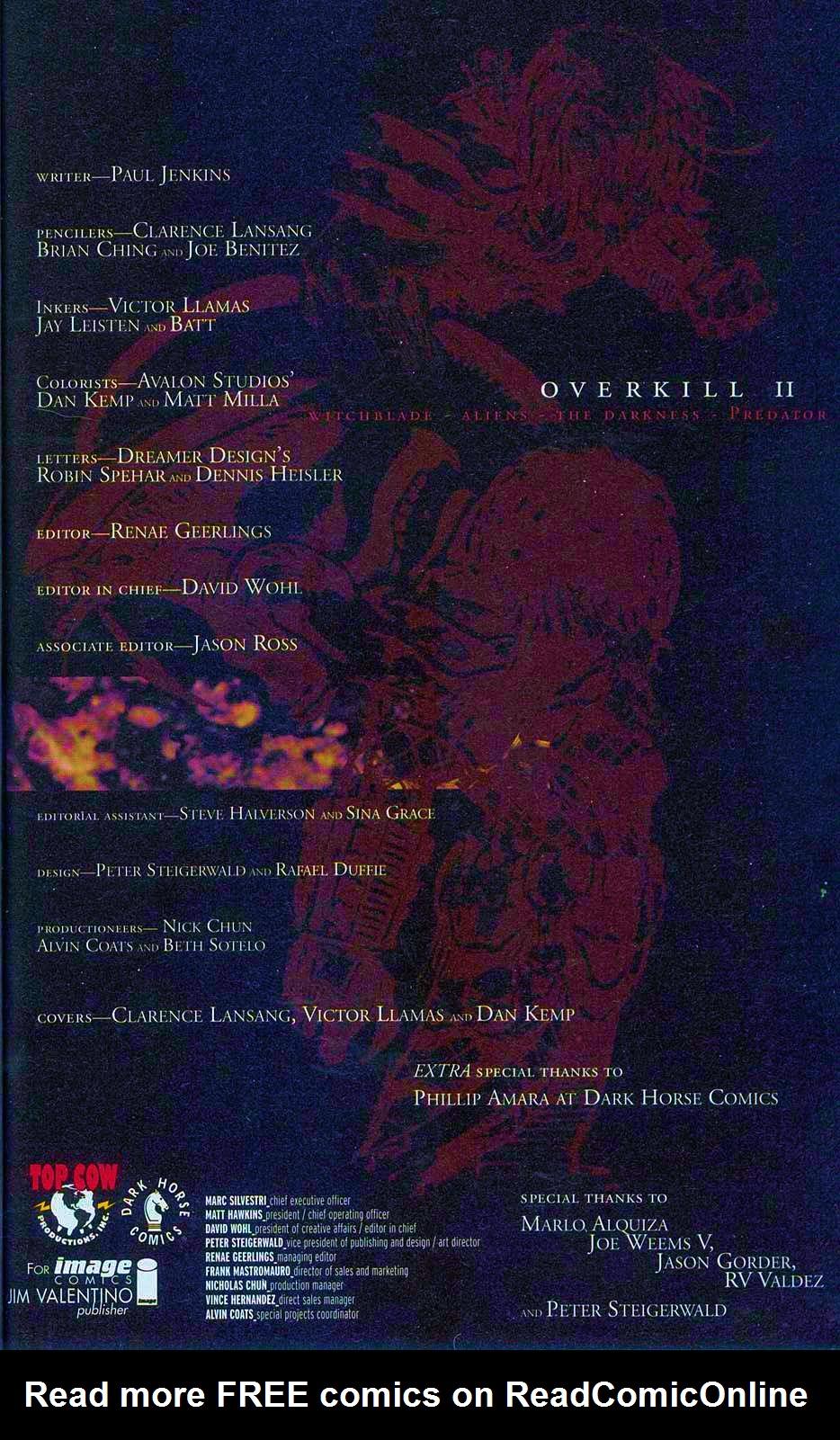 Read online Overkill: Witchblade/Aliens/Darkness/Predator comic -  Issue #2 - 3