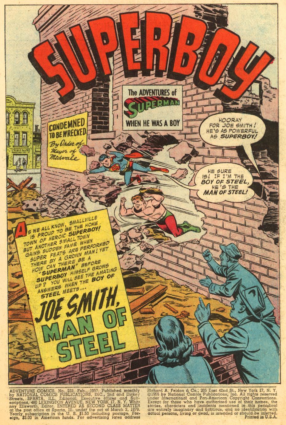 Read online Adventure Comics (1938) comic -  Issue #233 - 3