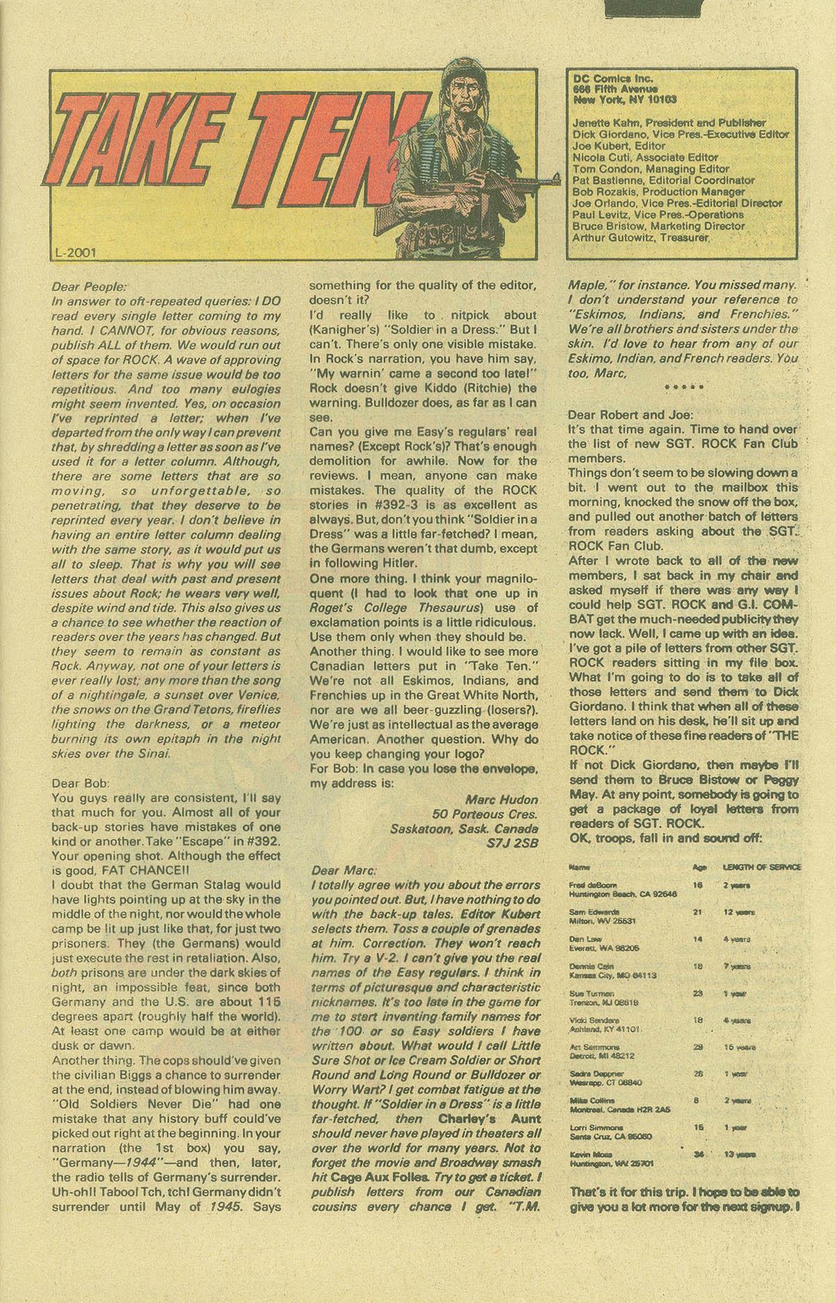 Read online Sgt. Rock comic -  Issue #402 - 20