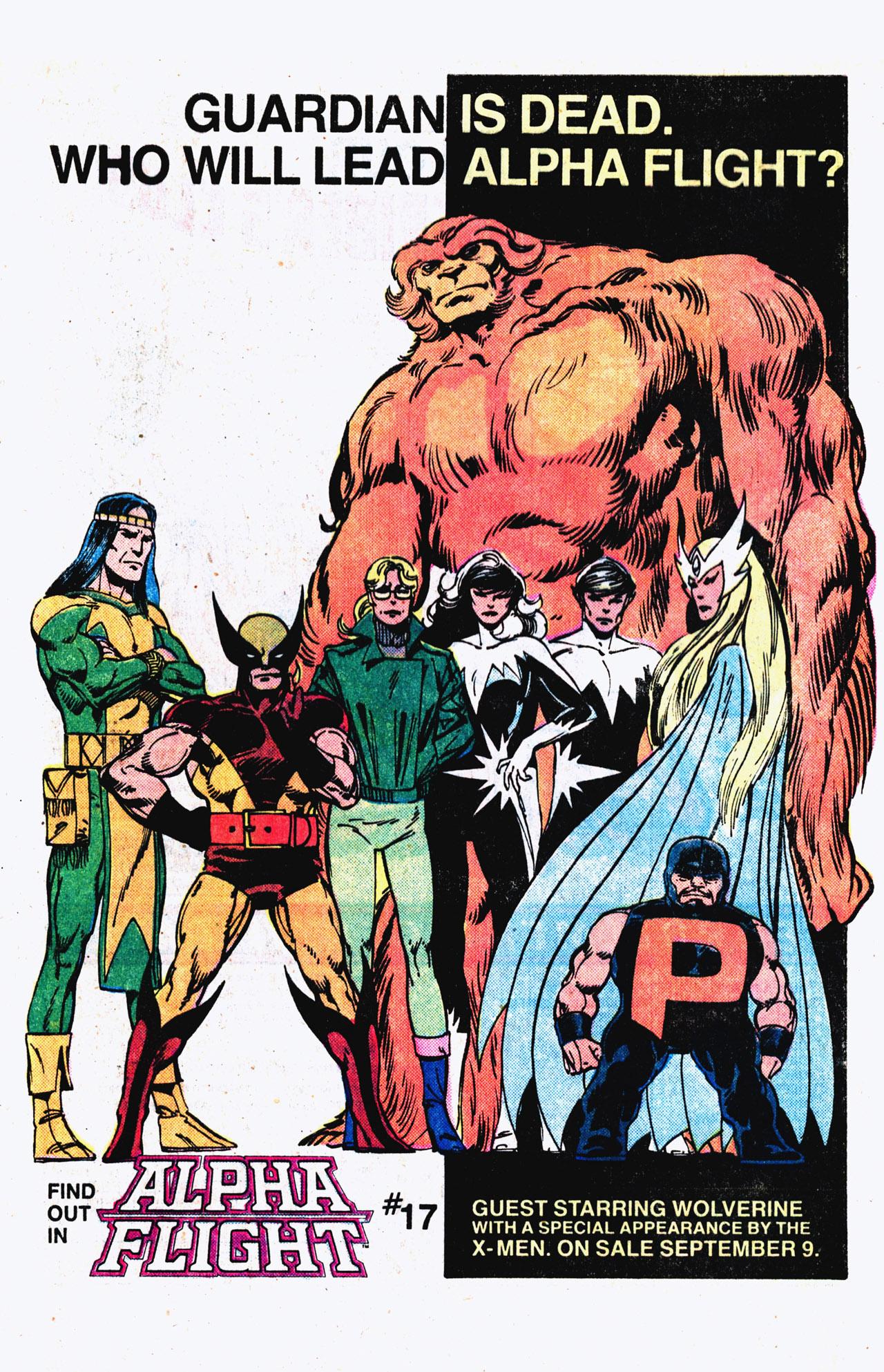 Read online Alpha Flight (1983) comic -  Issue #16 - 26