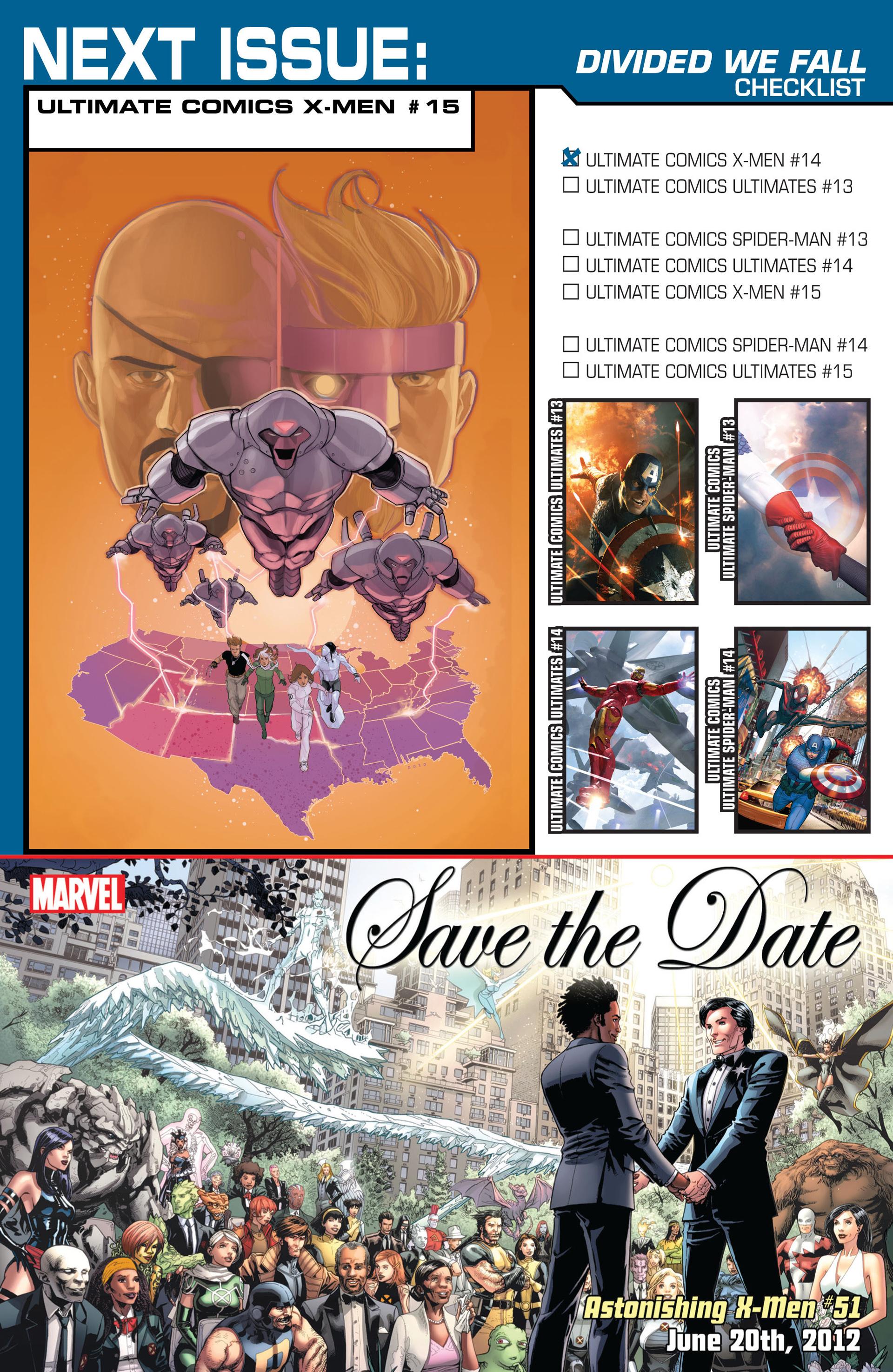 Read online Ultimate Comics X-Men comic -  Issue #14 - 25