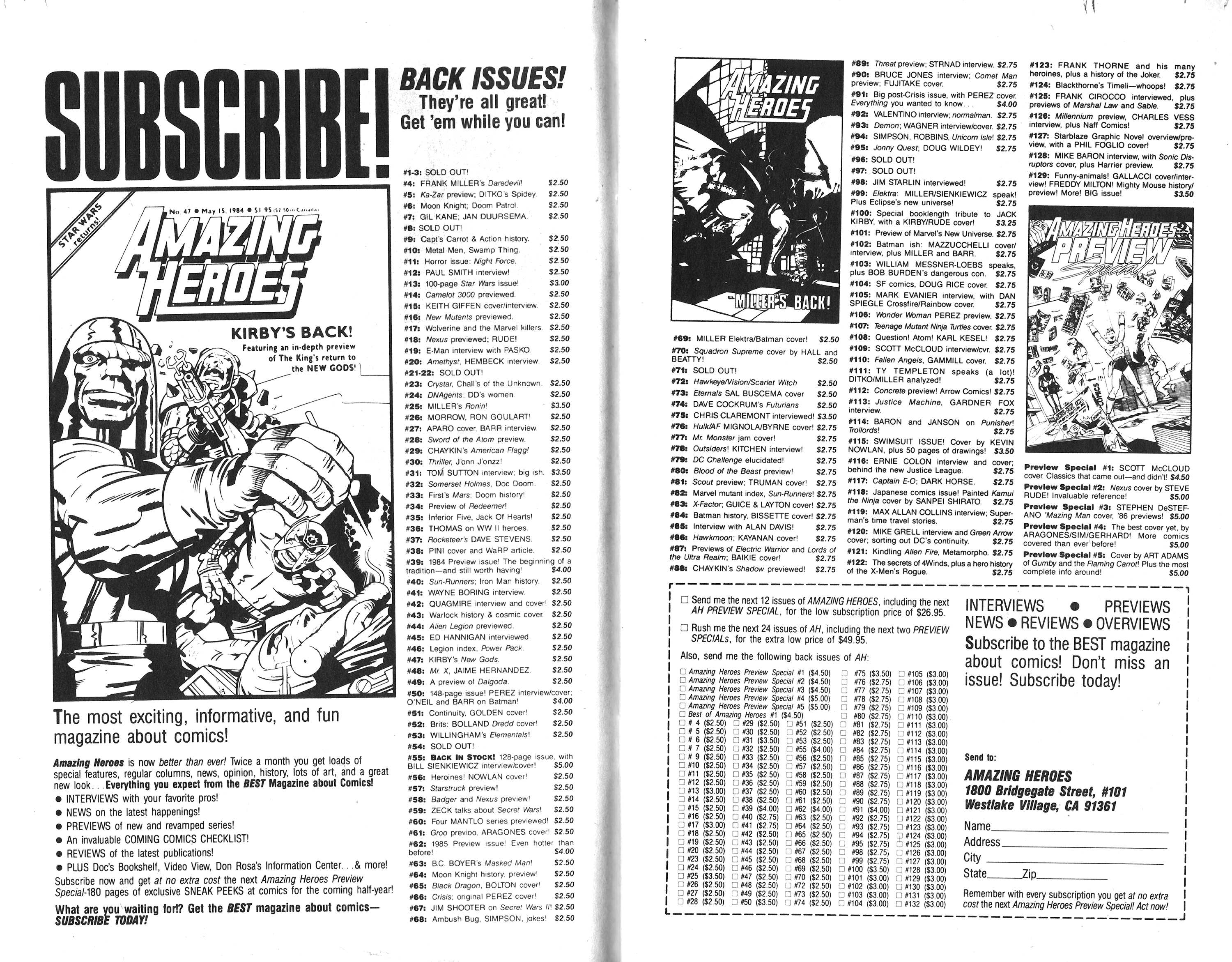 Read online Amazing Heroes comic -  Issue #135 - 11