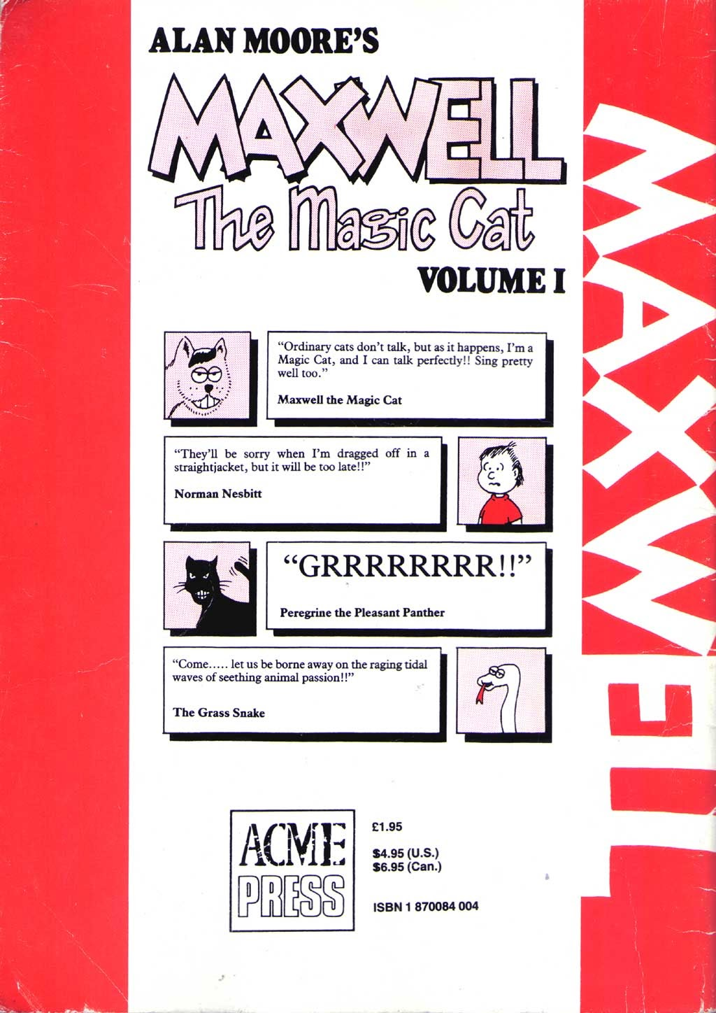 Read online Alan Moore's Maxwell the Magic Cat comic -  Issue #1 - 32