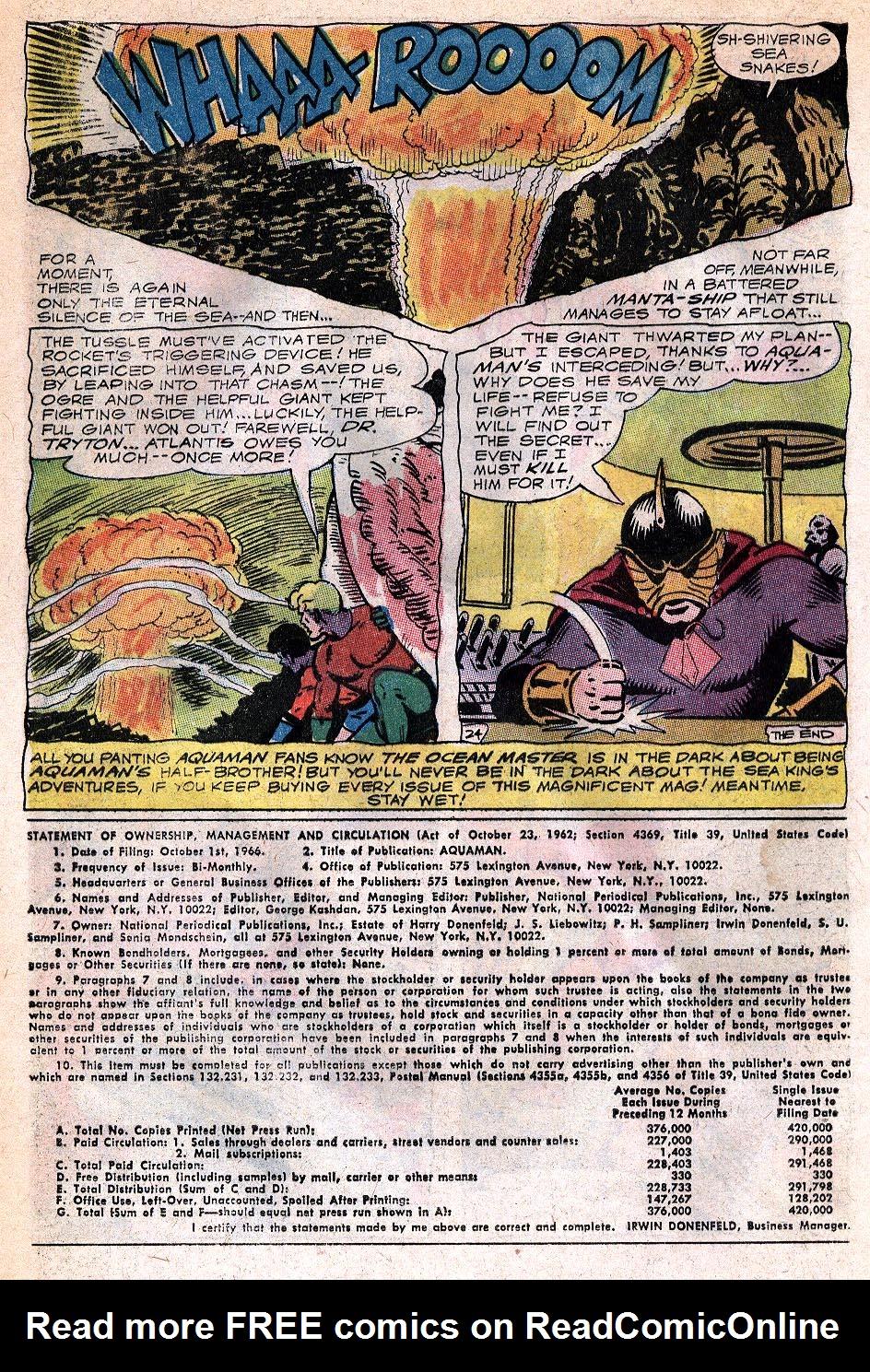 Read online Aquaman (1962) comic -  Issue #32 - 32