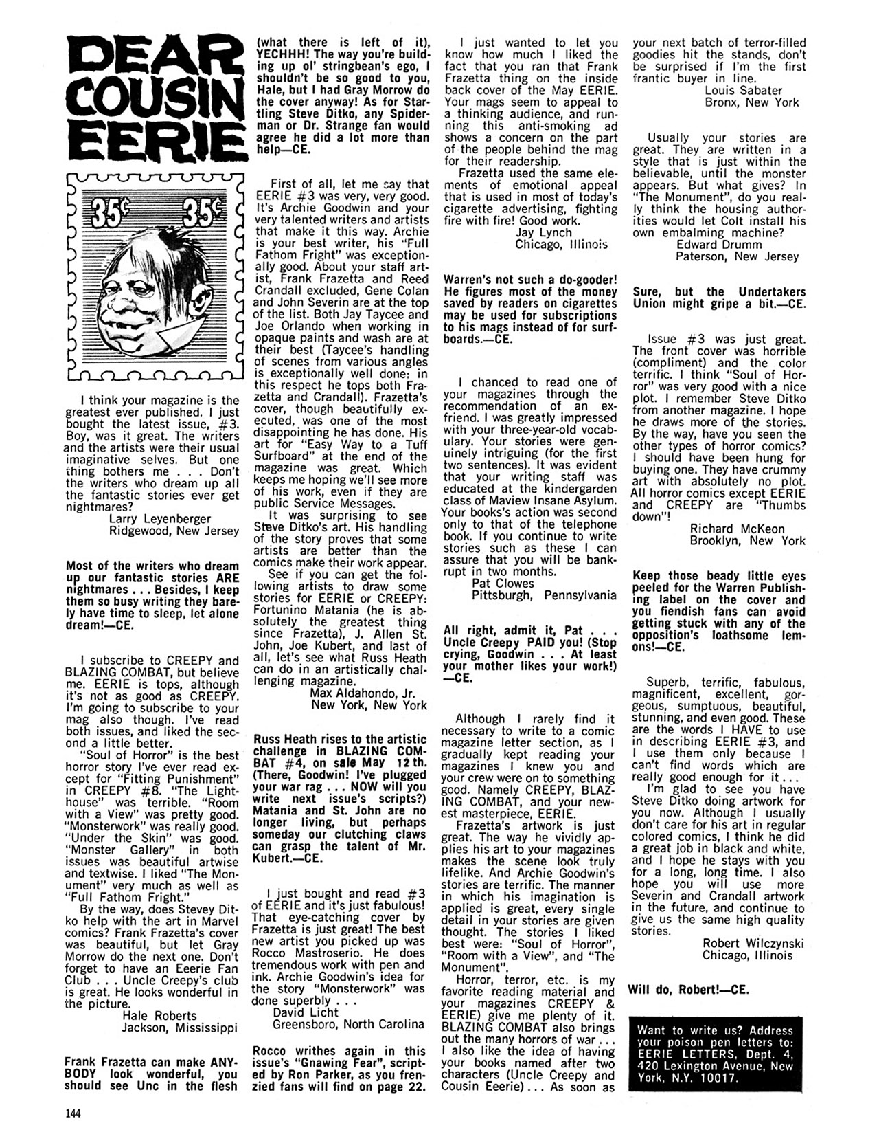Read online Eerie Archives comic -  Issue # TPB 1 - 145