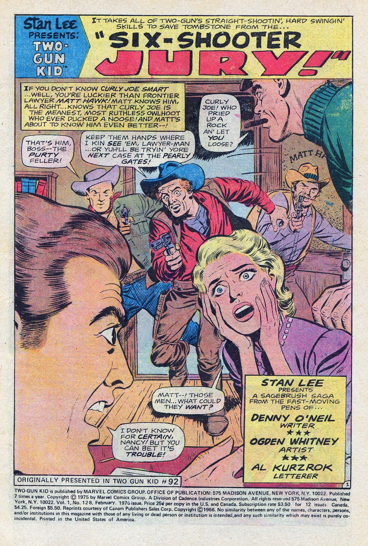 Read online Two-Gun Kid comic -  Issue #128 - 3