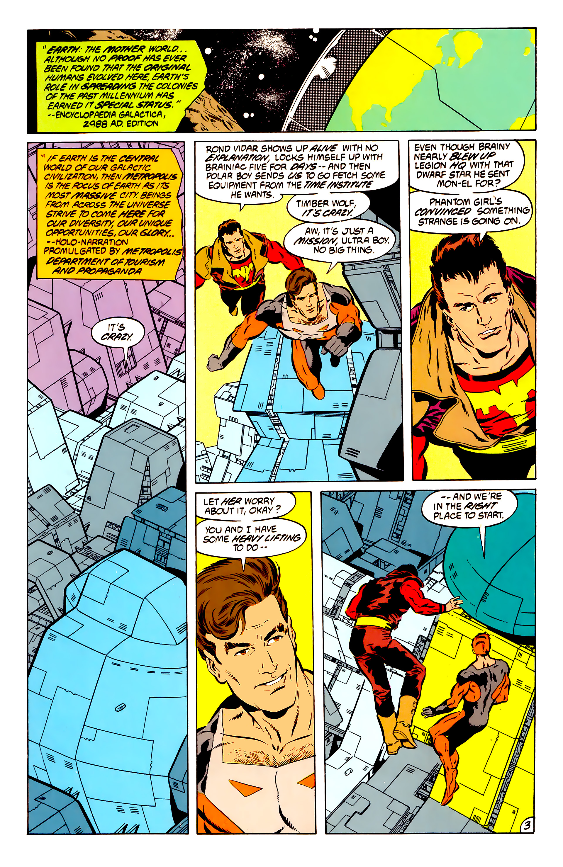 Legion of Super-Heroes (1984) 50 Page 3
