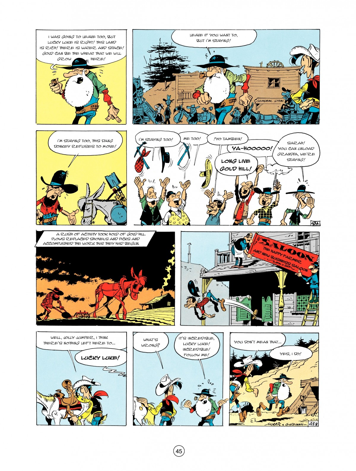 Read online A Lucky Luke Adventure comic -  Issue #2 - 47
