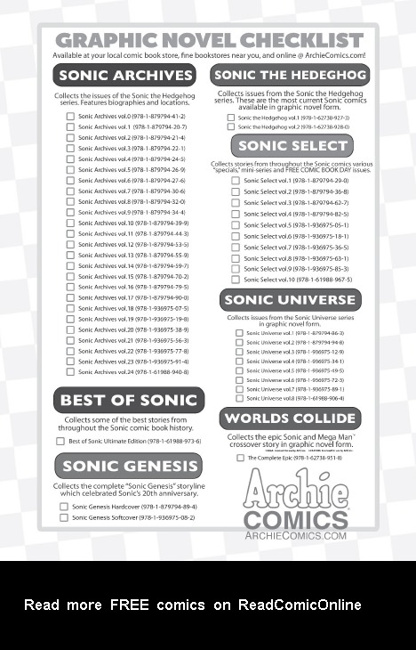 Read online Sonic Comics Spectacular: Speed of Sound comic -  Issue # Full - 165