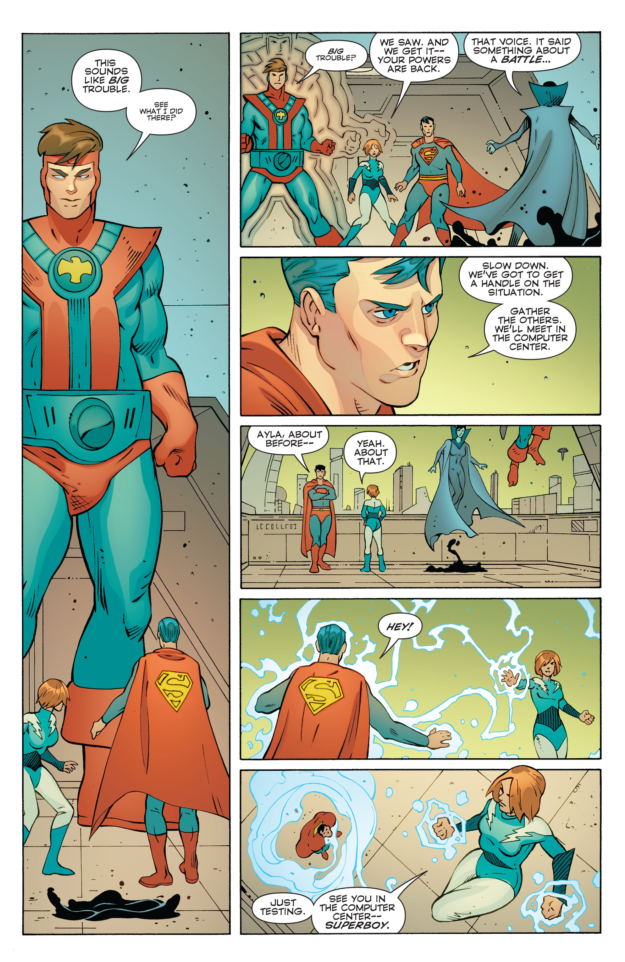 Read online Convergence Superboy and the Legion of Super-Heroes comic -  Issue #1 - 17