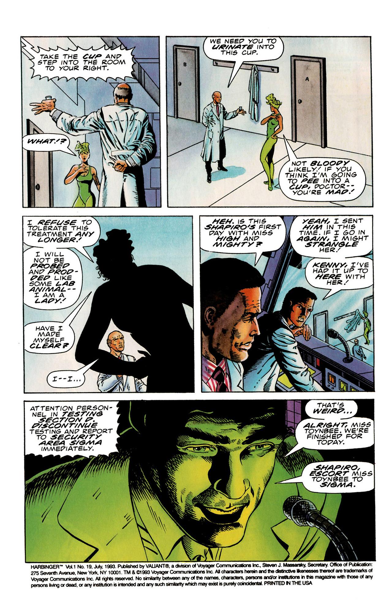 Read online Harbinger (1992) comic -  Issue #19 - 3