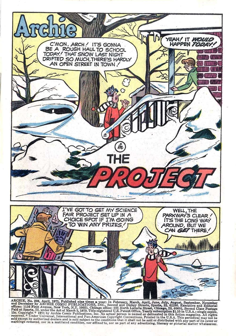 Read online Archie (1960) comic -  Issue #208 - 3