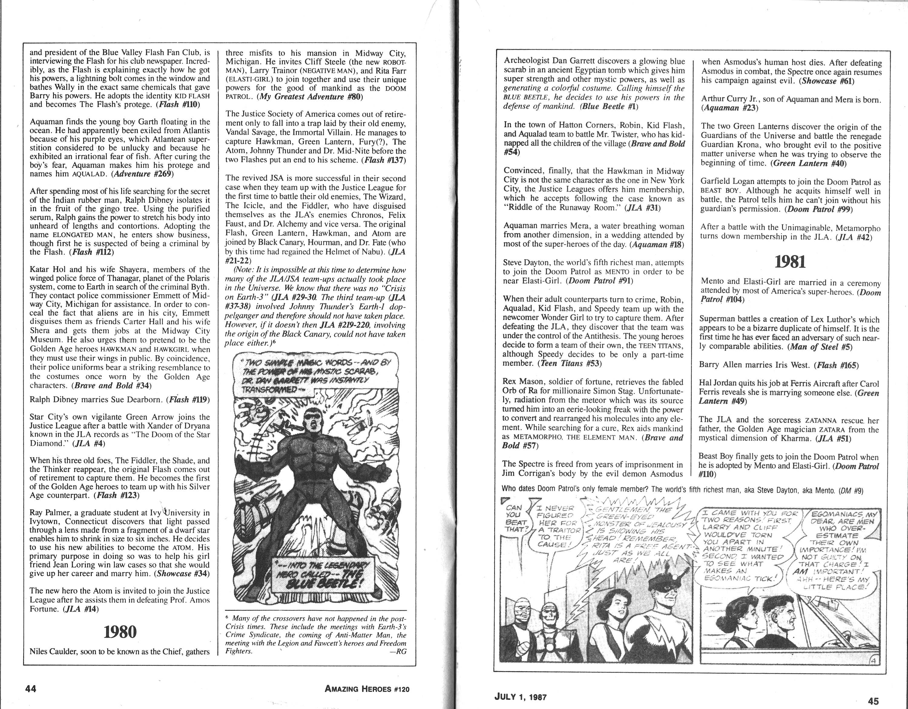 Read online Amazing Heroes comic -  Issue #120 - 23